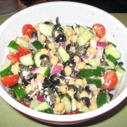 Greek Garbanzo Bean Salad CookingDiva