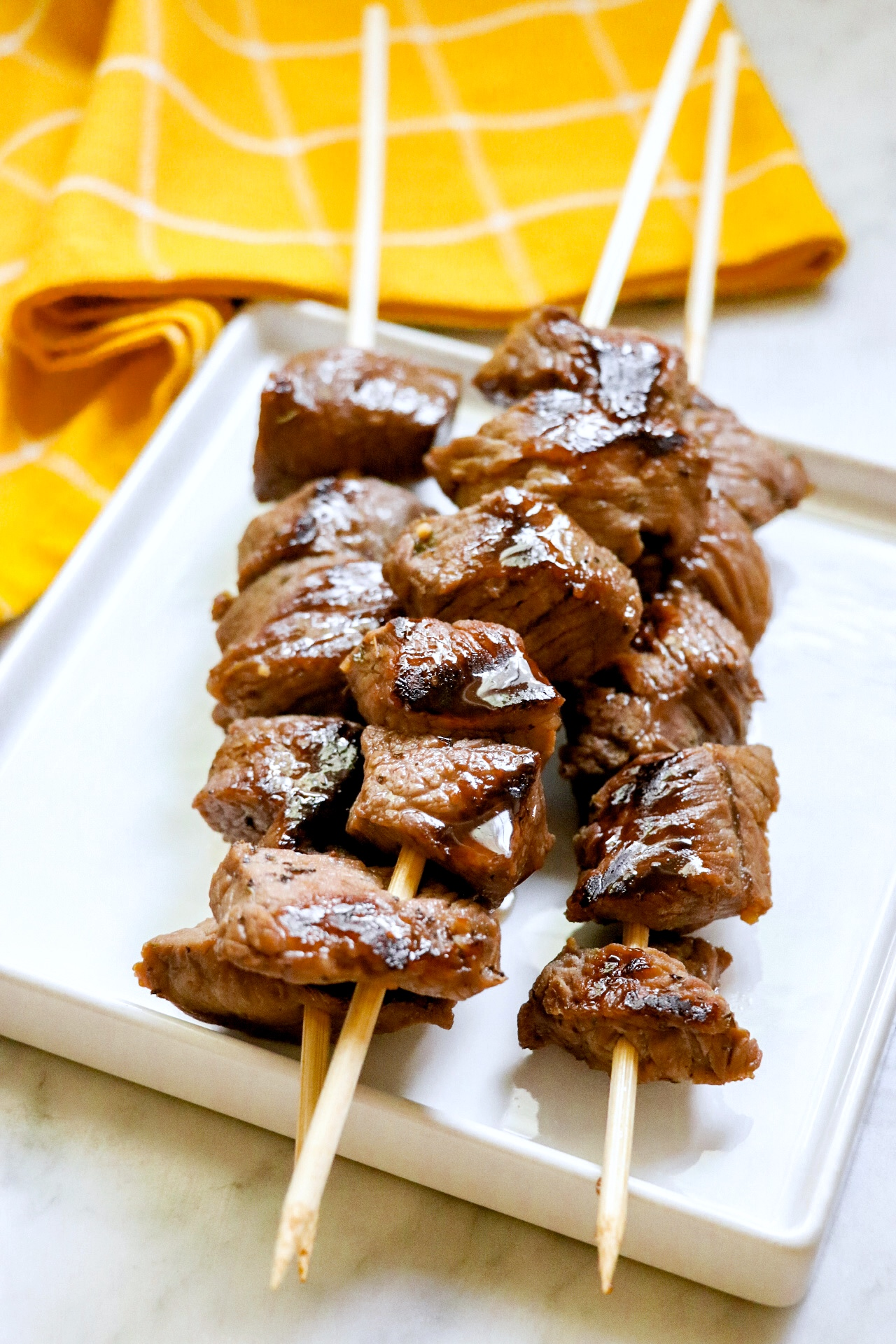 Sweet Grilled Steak Bites