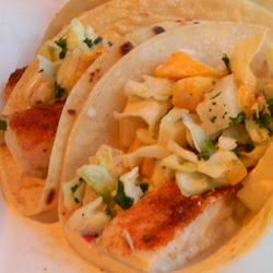 Easy Fish Tacos with Mango-Pineapple Slaw
