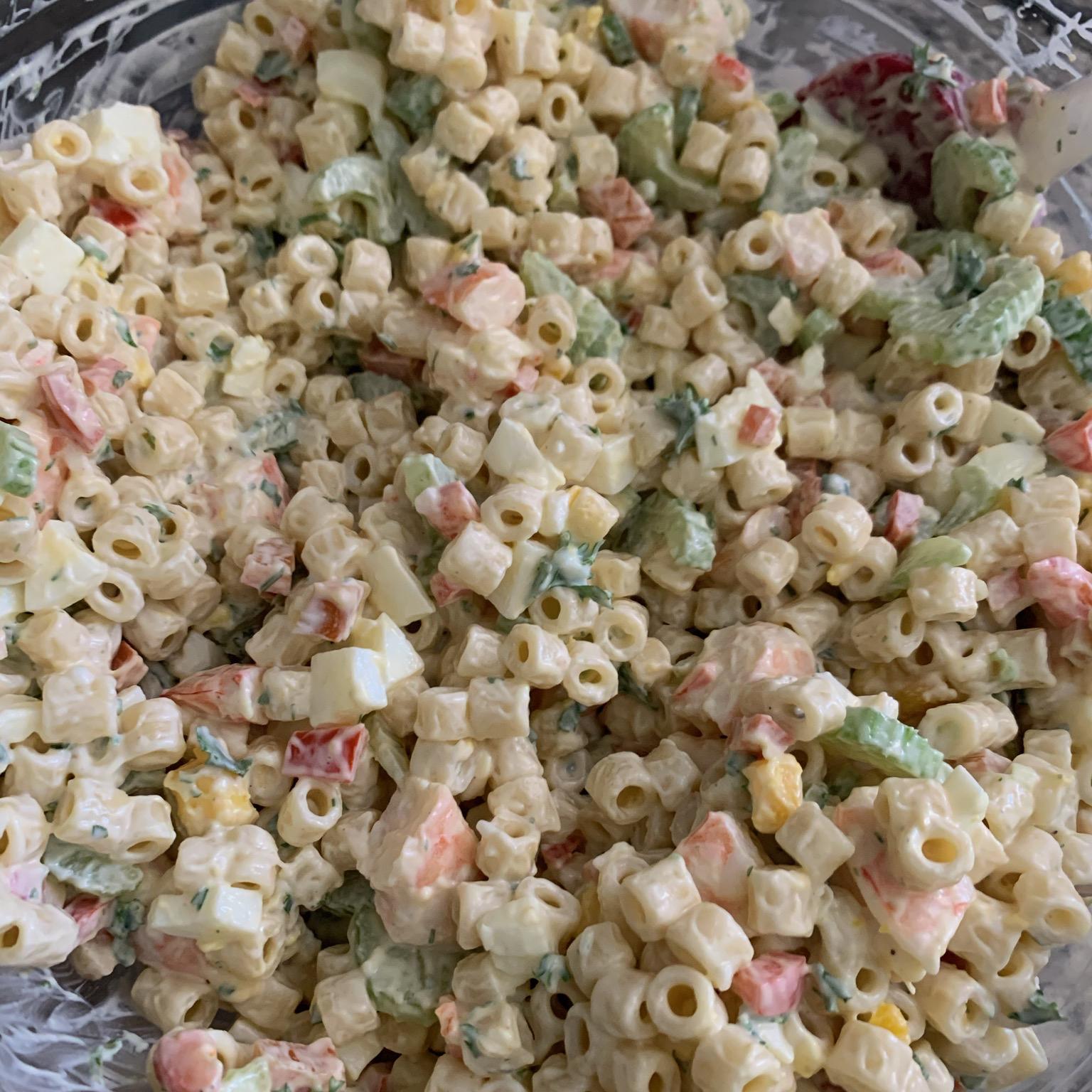 Herbed Macaroni Salad with Shrimp Jolié Ballard