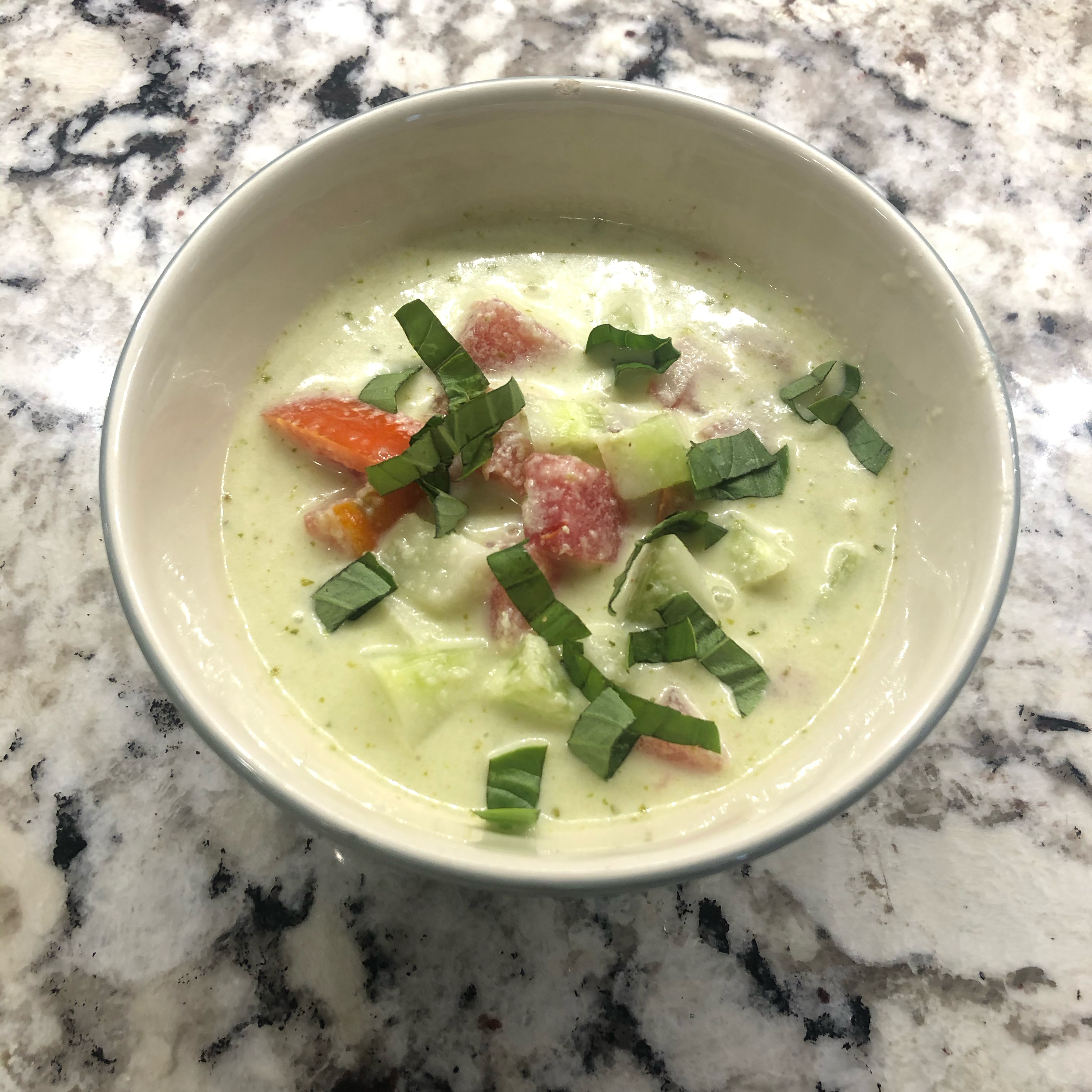 Cucumber Soup with Tomatoes bonnie