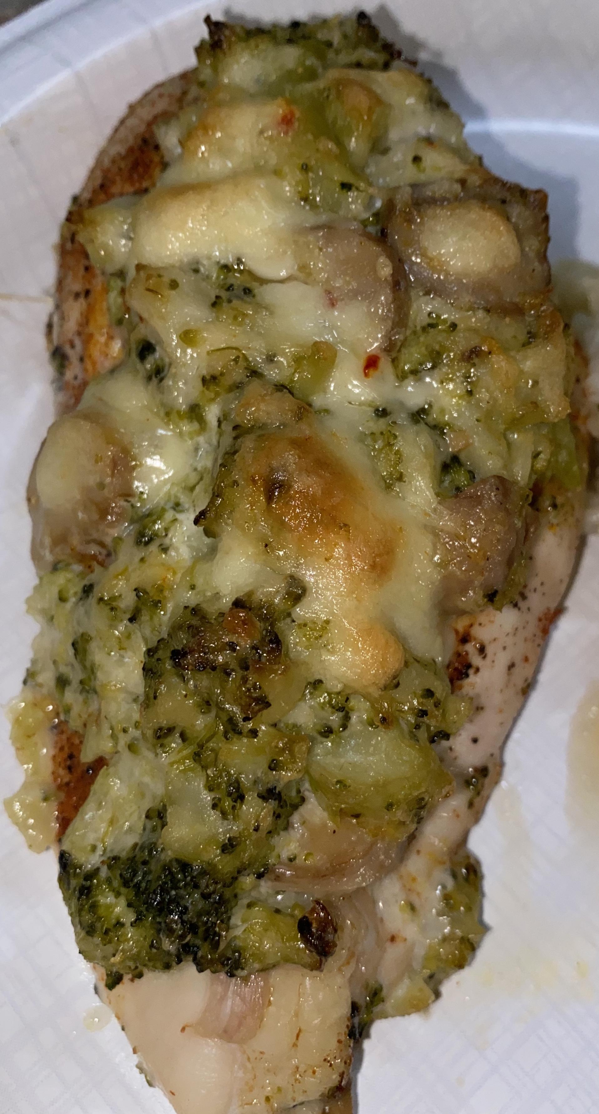 Mushroom, Broccoli, and Cheese Stuffed Chicken Felecia Ott