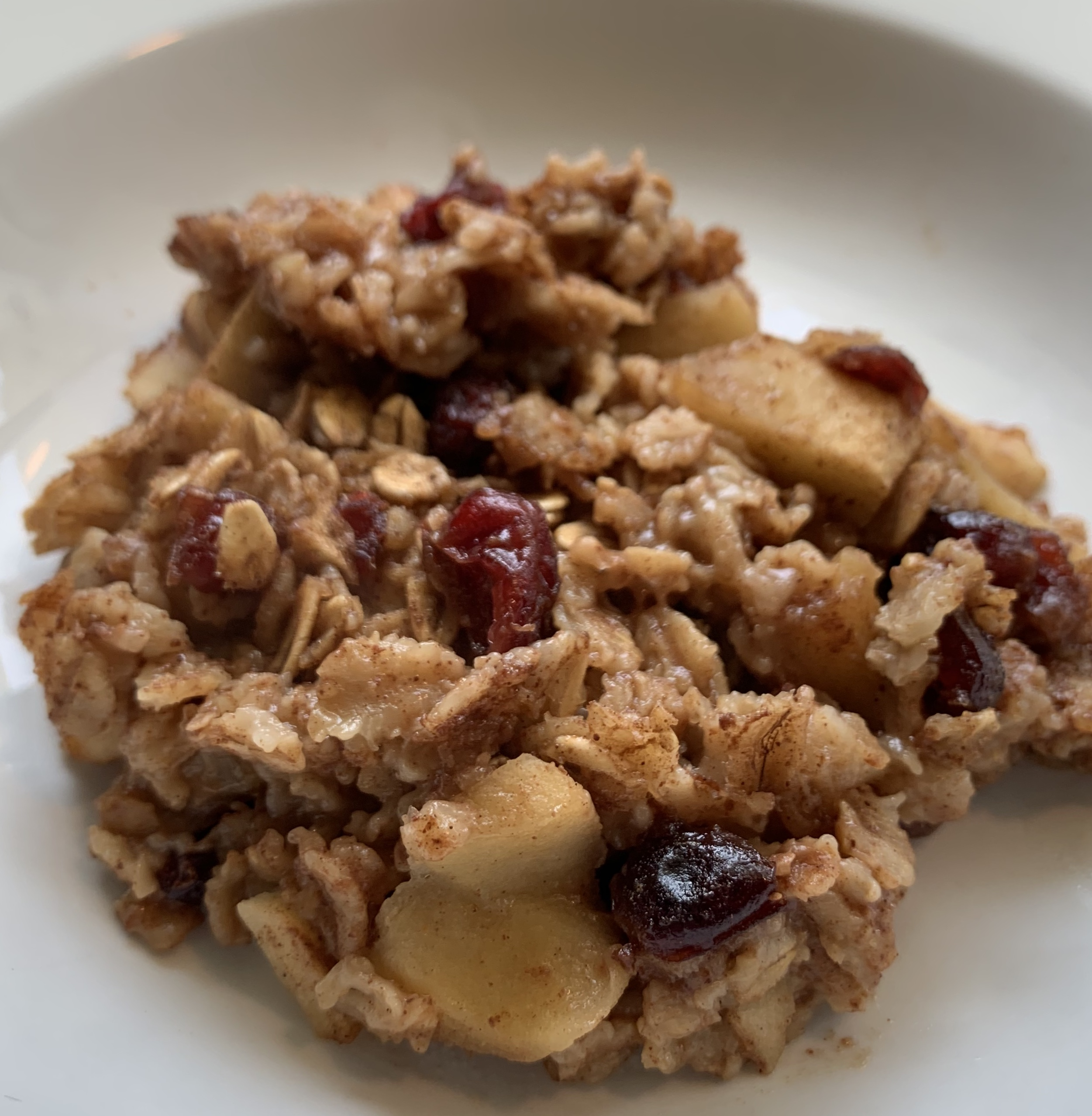 Baked Cranberry Oatmeal