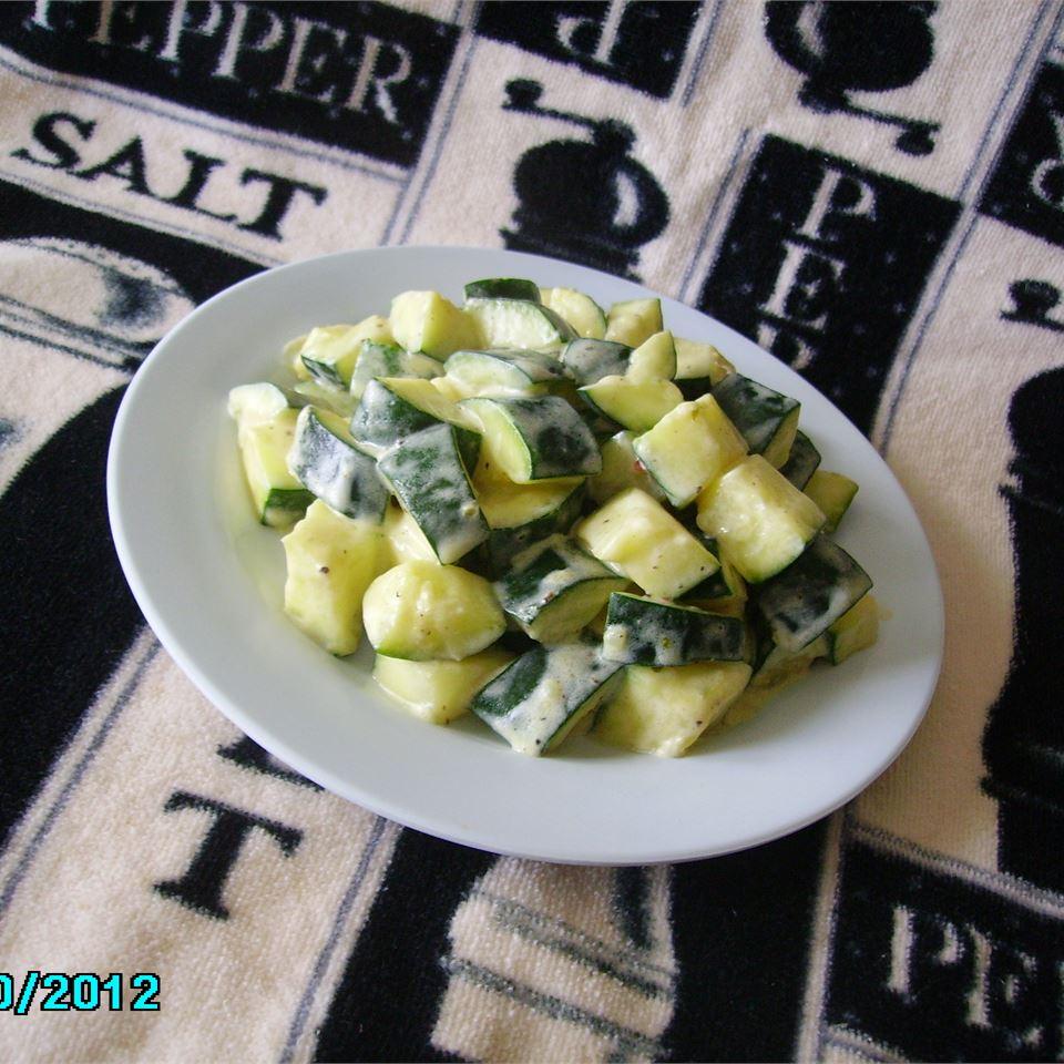 Cream Cheesy Cubed Zucchini with Lemon and Oregano Christina