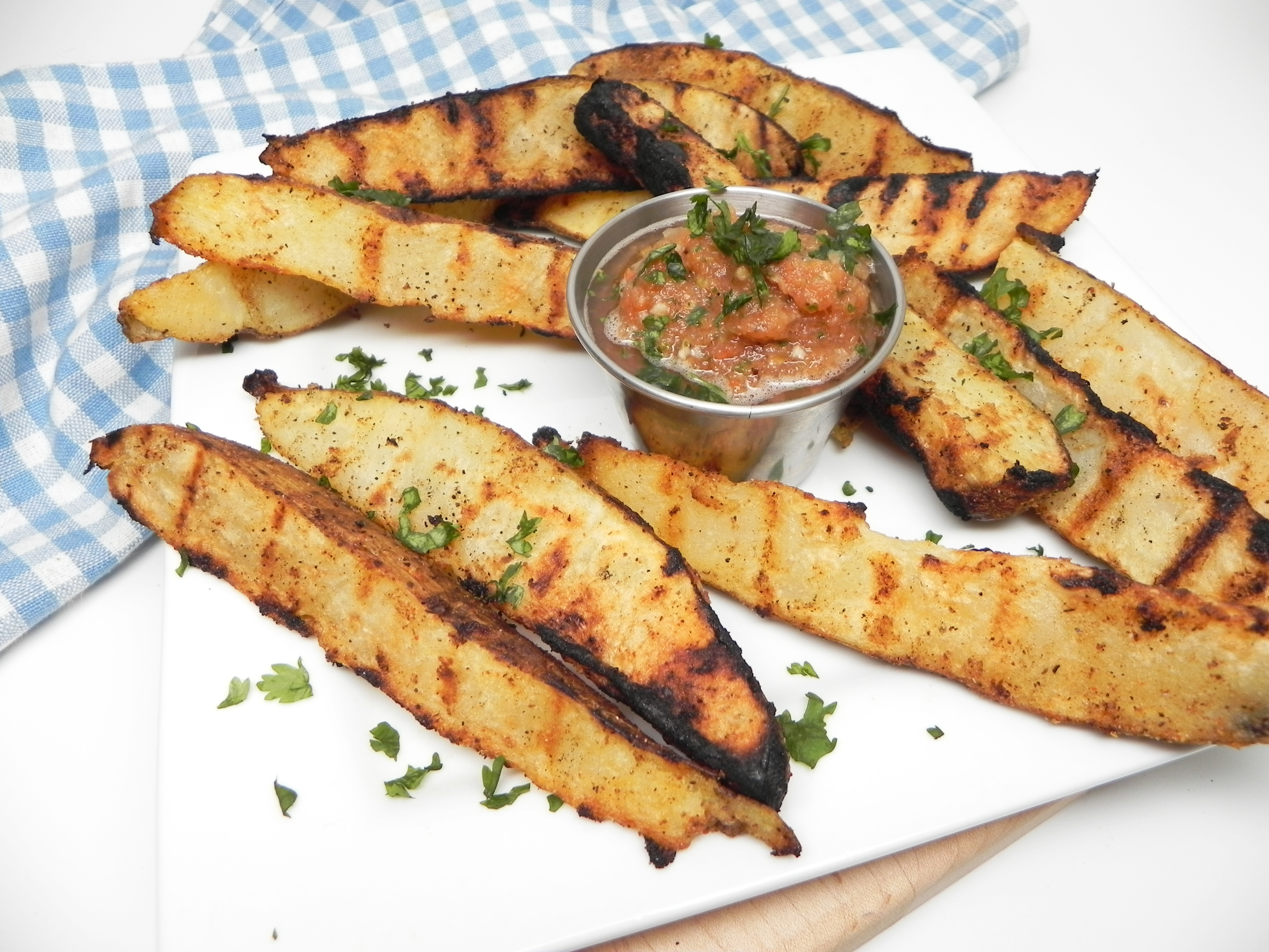 Crispy Grilled Potato Wedges
