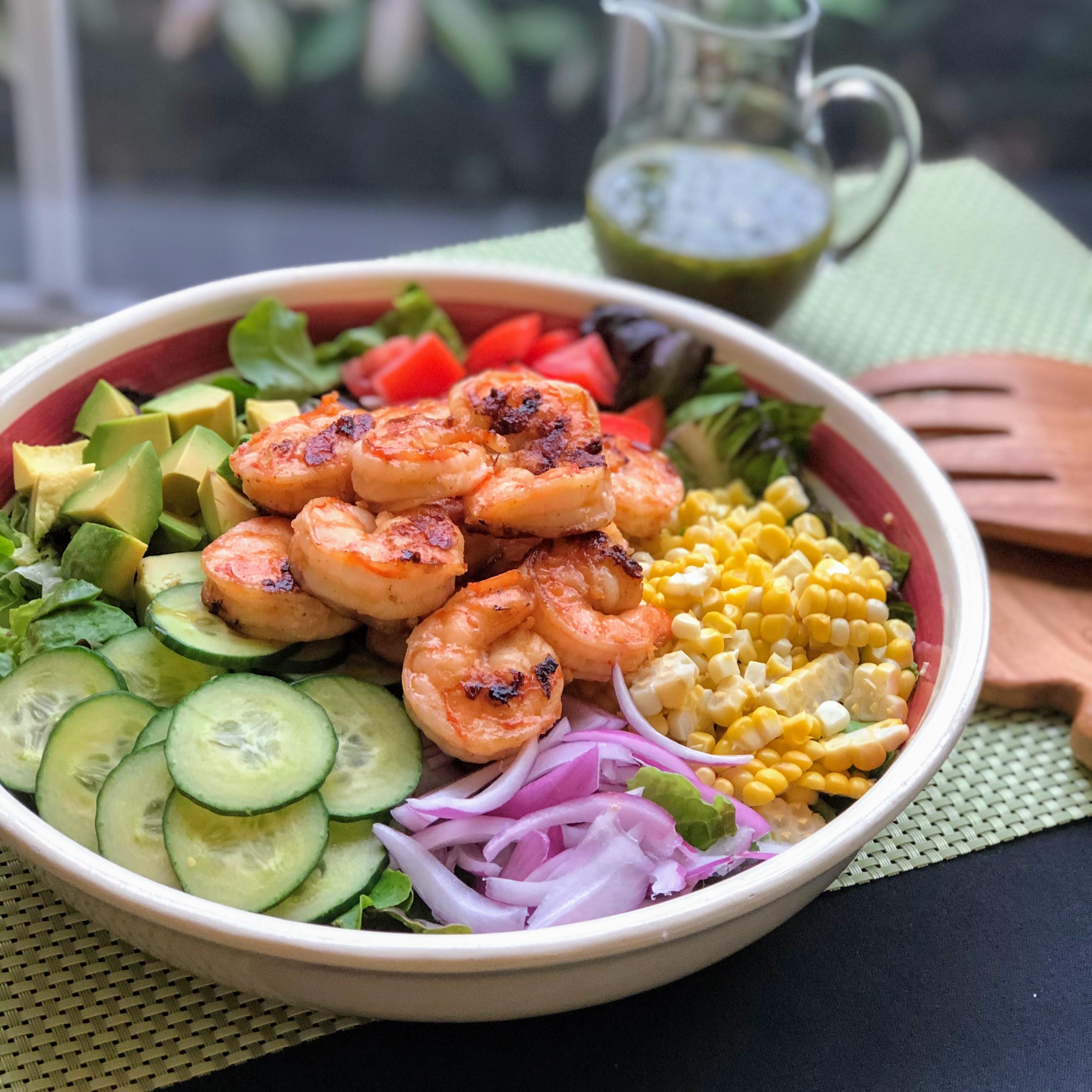 Summer Grilled Shrimp Salad