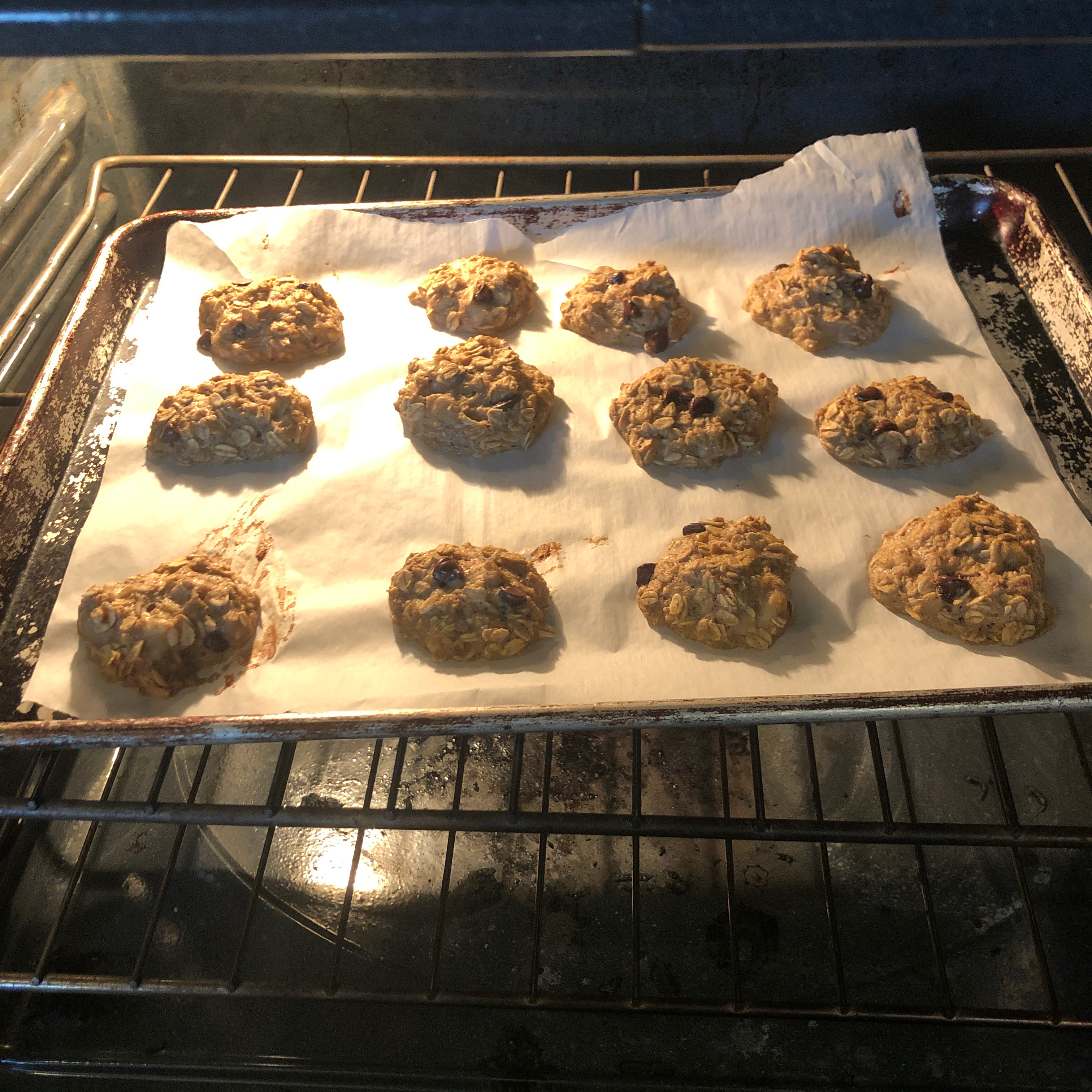 Clean Banana Oat Cookies