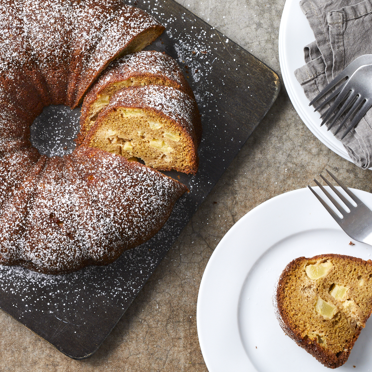 This simple nondairy apple cake, which is often called Jewish apple cake, has origins in Eastern Europe. Cinnamon and sweet-tart Granny Smith apples make for a fragrant cake, while orange juice in the batter adds a sweet, fresh touch. Make it for Rosh Hashana or any other fall holiday or occasion. The leftovers (if there are any) pair nicely with a cup of coffee the next morning.Source: EatingWell.com, June 2020