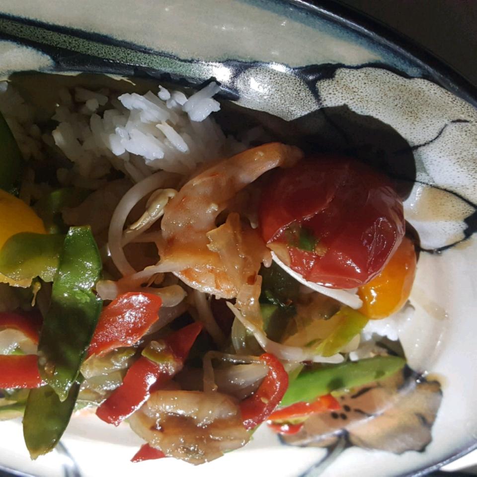 Thai Shrimp and Snow Peas