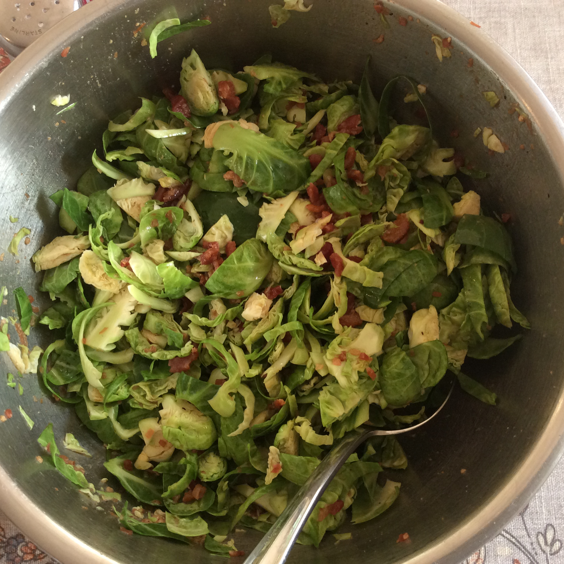 Brussels Sprouts with Bacon Dressing