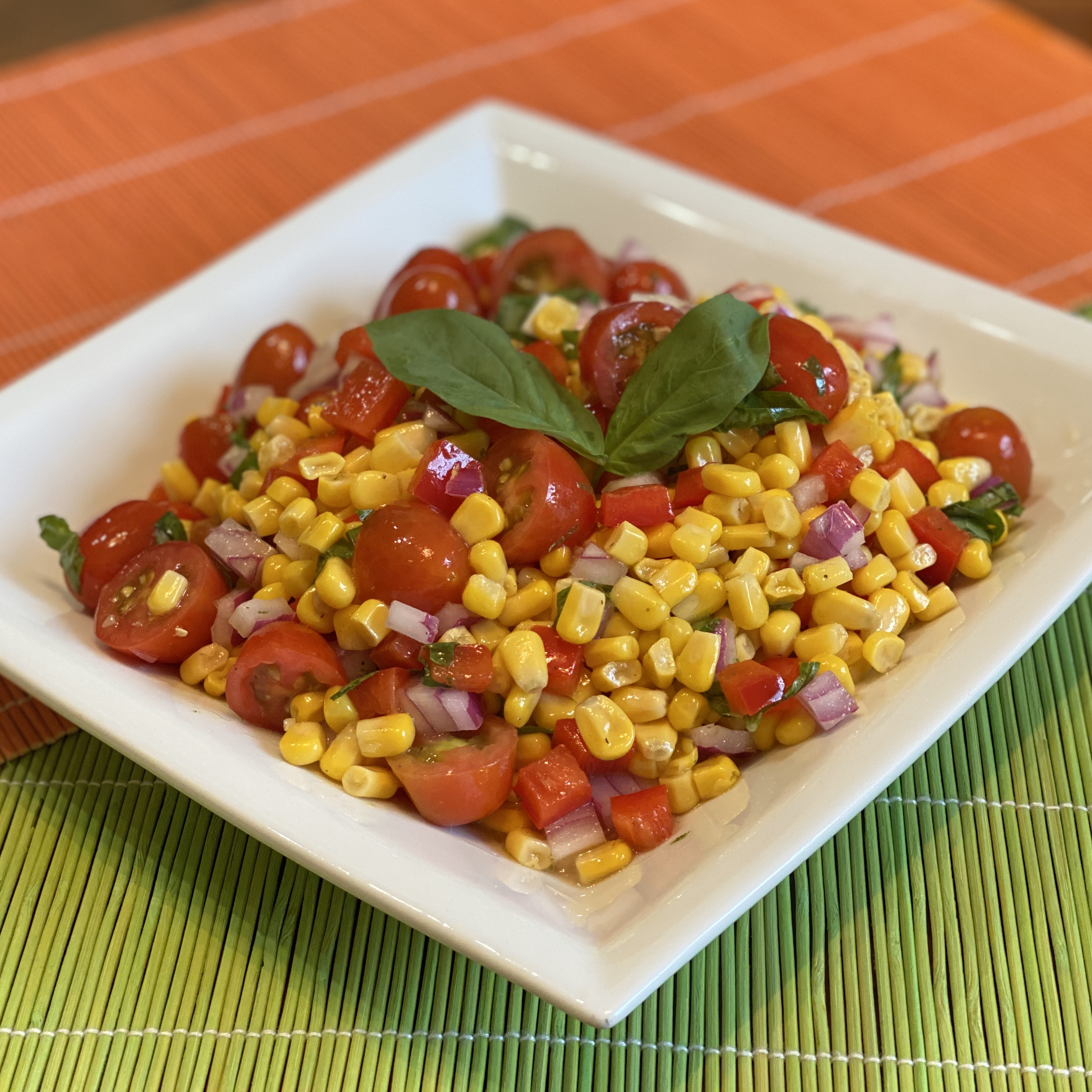Summer Salad with Grilled Corn and Cherry Tomatoes Happyschmoopies