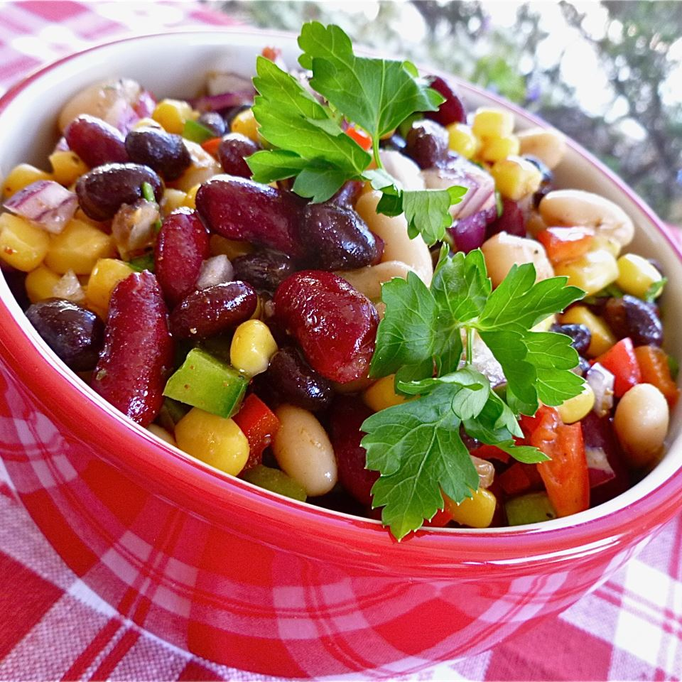Three Bean Mix Salad Recipe