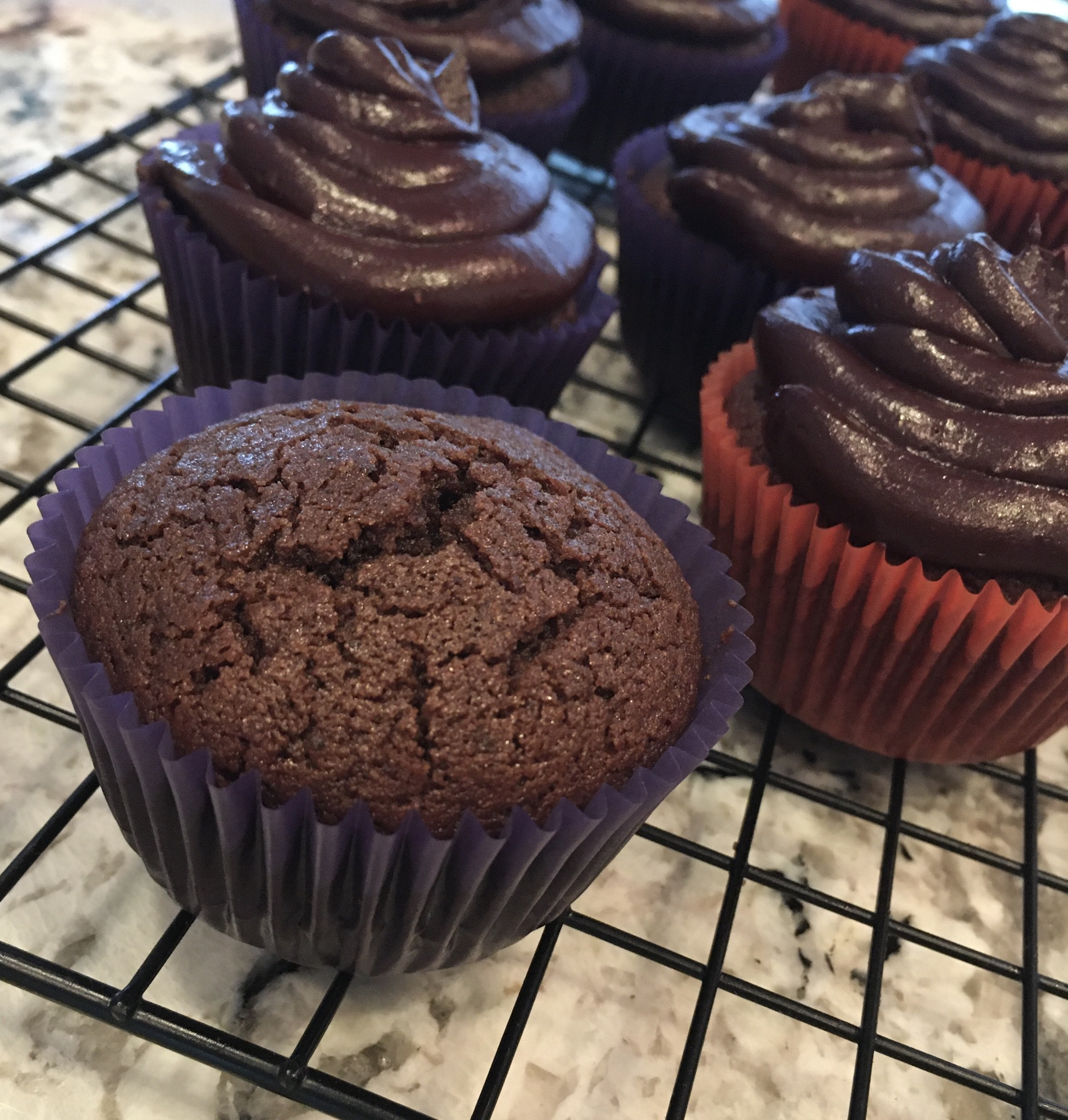 Rice Flour Mexican Chocolate Cupcakes (Gluten Free) umamimommy