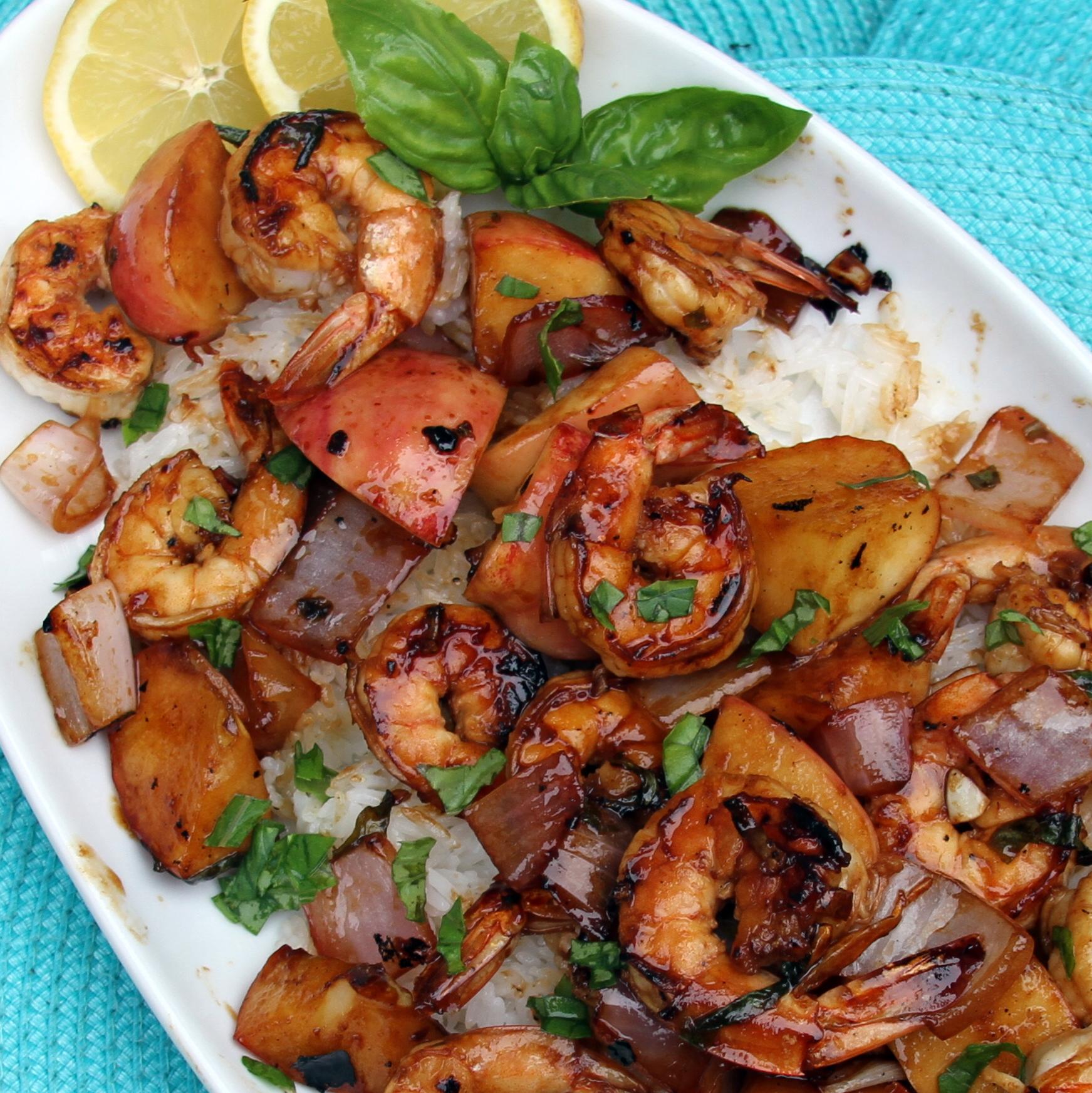 Grilled Shrimp and Apple Skewers