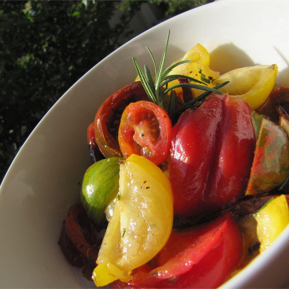 Heirloom Tomato Salad with Rosemary MrsFisher0729