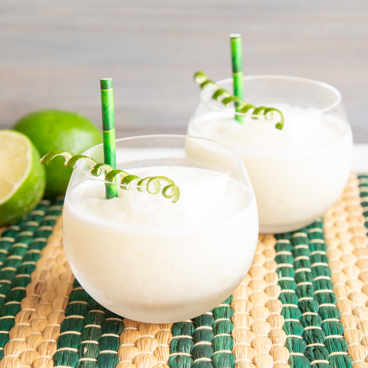 This whipped frozen limeade is a blast from the past--but much better for you! It's got the nostalgic taste of a lemon-lime slushie, and this time it's made with real lime juice and fresh, homemade syrup. Just a splash of dairy is enough to evoke the creaminess of vanilla soft serve mixed with the cool and tangy iced slush. Or use coconut milk creamer for a tropical twist. Source: EatingWell.com, July 2020