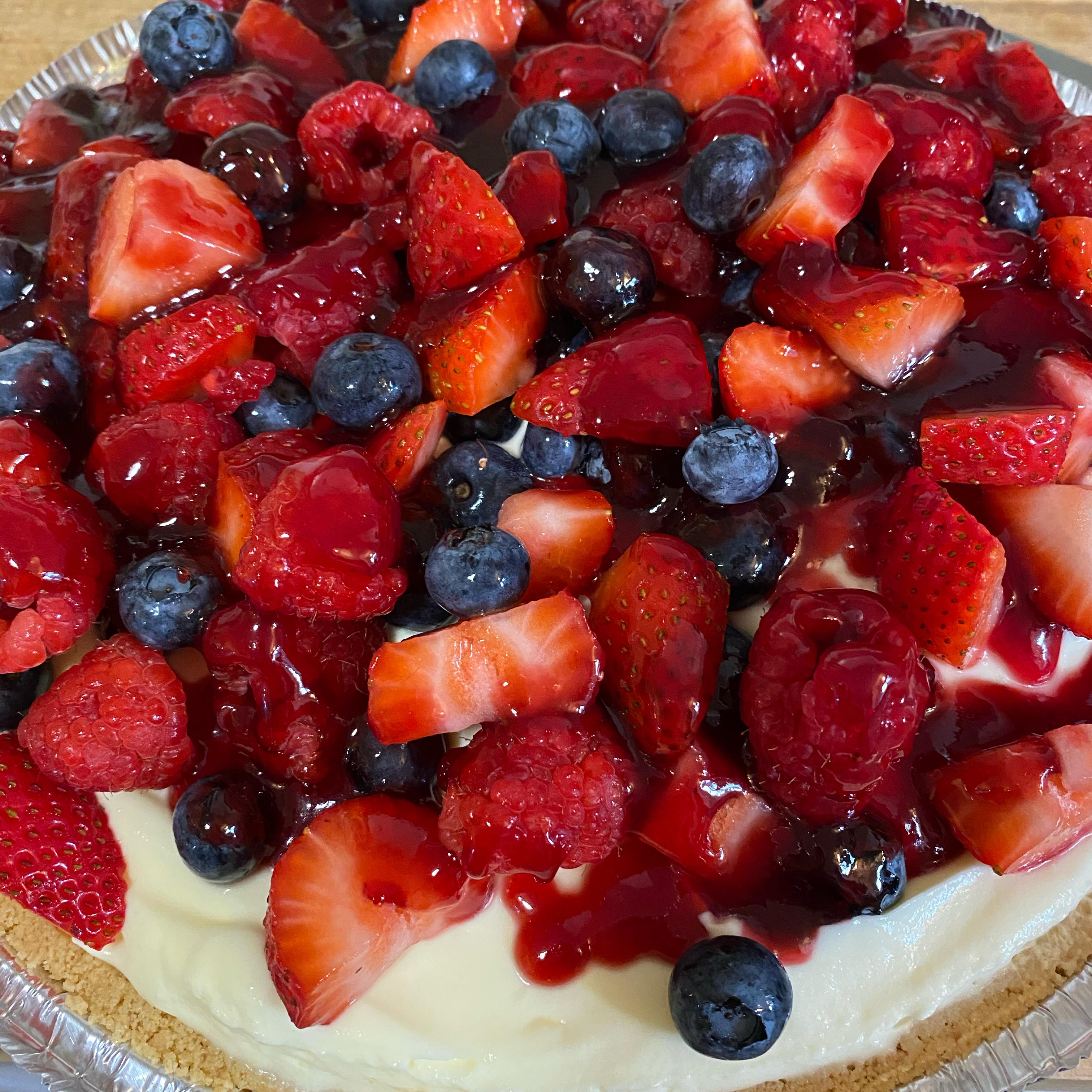 Double Berry Custard Pie