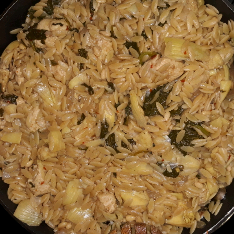 Orzo with Chicken and Artichokes Jerilyn Emerson Hadley