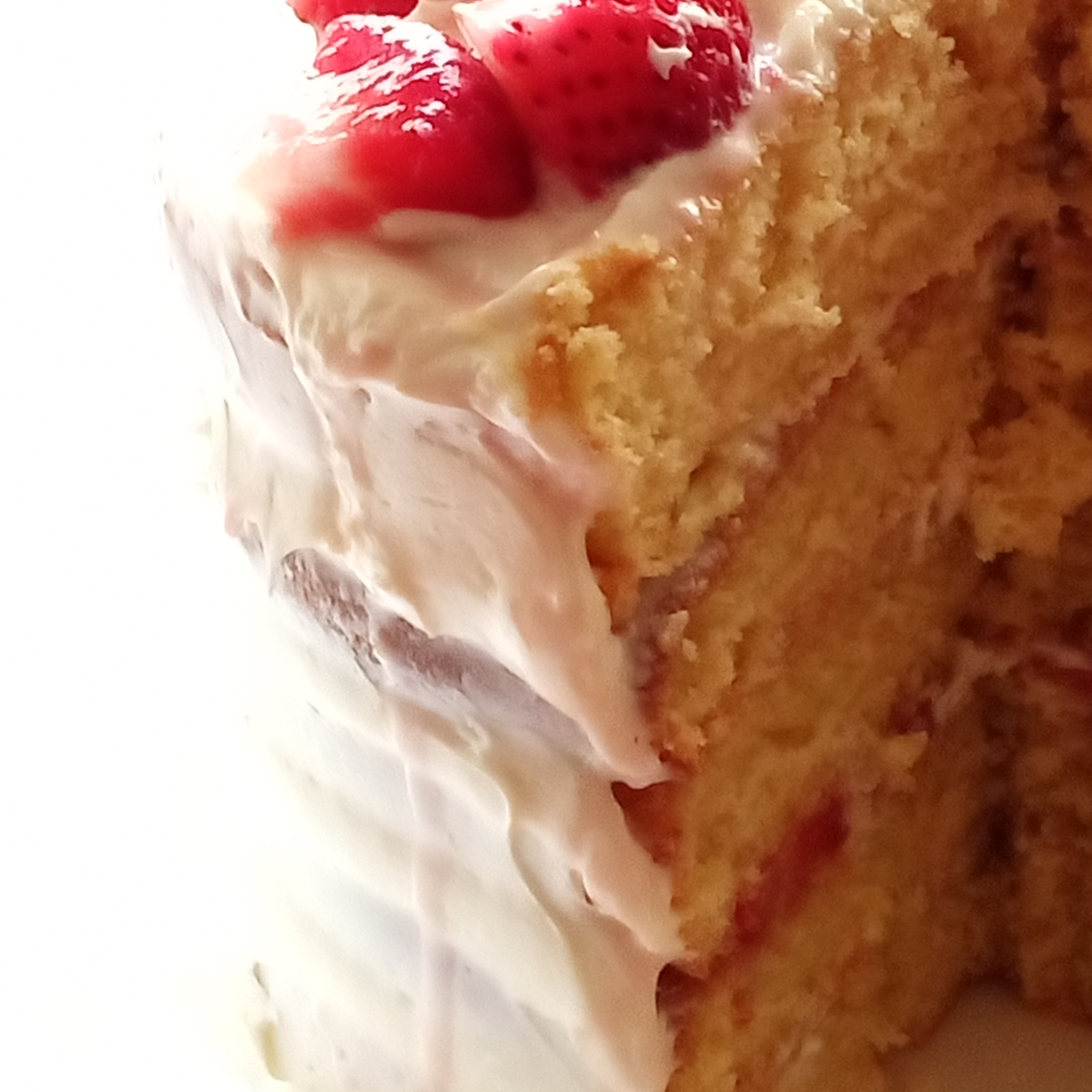 Vanilla Layer Cake with Strawberries