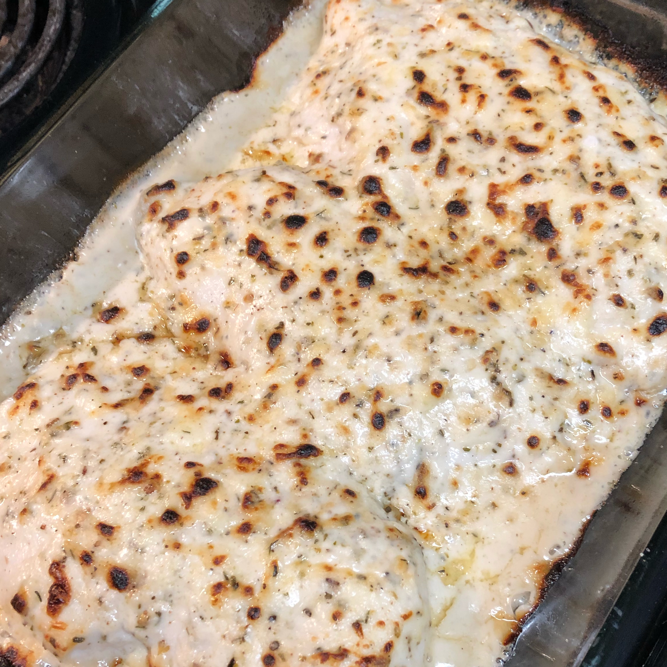 Creamy Baked Asiago Chicken Breasts