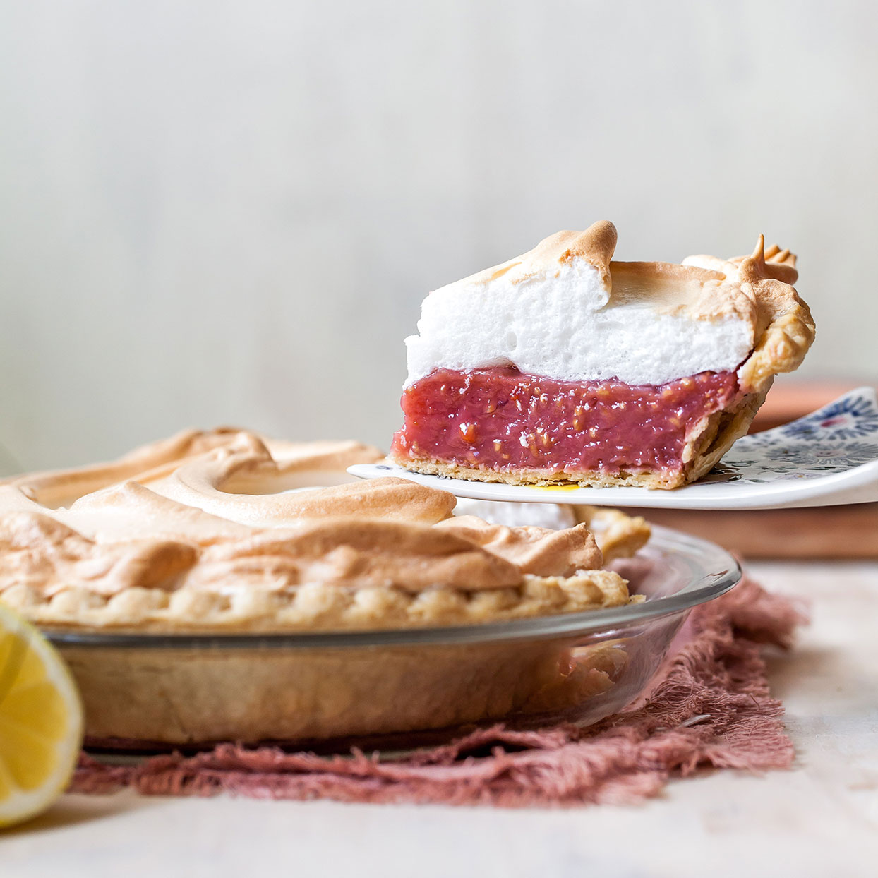 If you like pink lemonade, you'll love this summertime pie! The meringue is light and fluffy, and the filling is reminiscent of classic lemon meringue pie filling. The tanginess of the lemon helps cut through the sweetness, which makes the pie even more refreshing. Enjoy chilled or at room temperature as a light, summer dessert.Source: EatingWell.com, July 2020