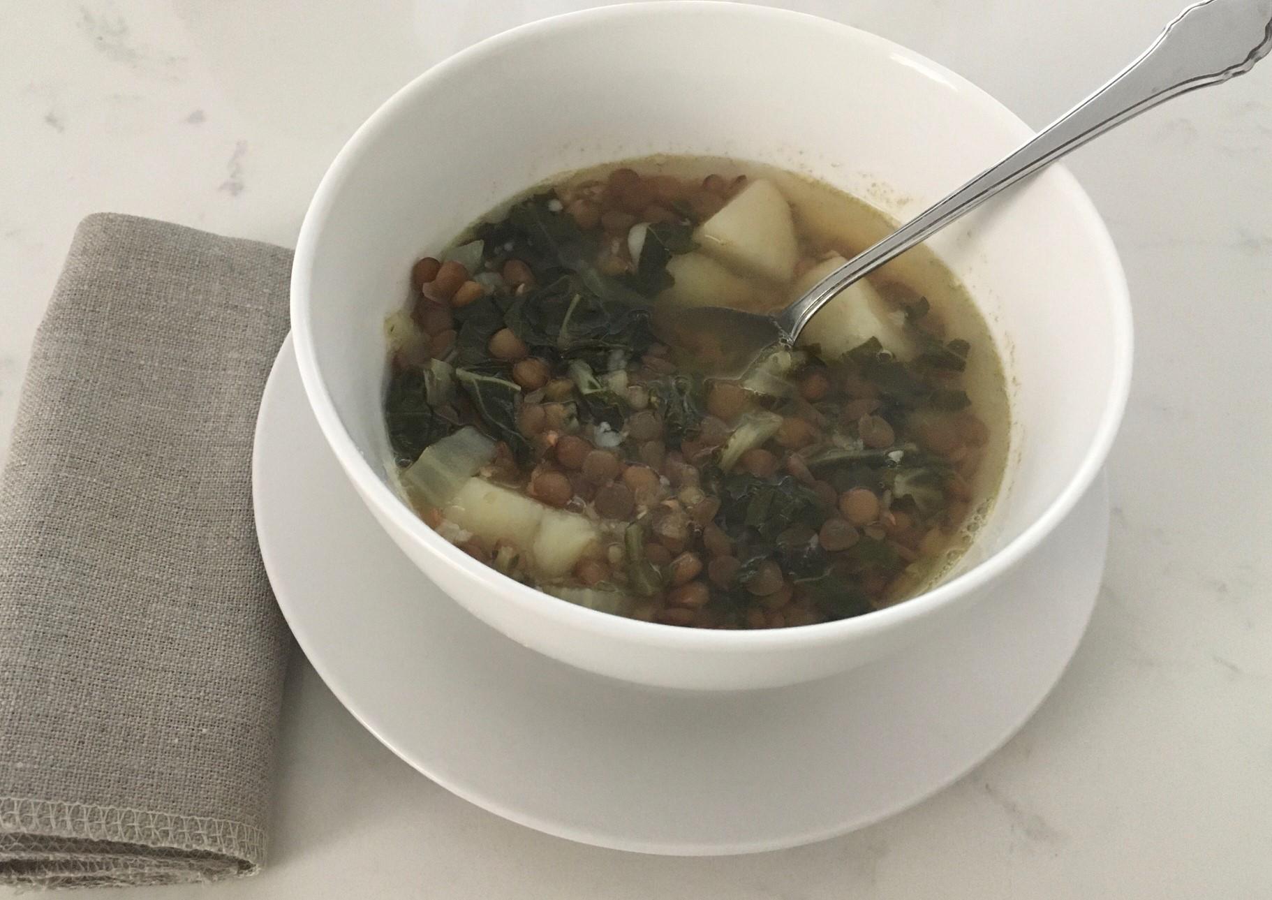 Chard Lentil Soup, Lebanese-Style anina