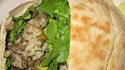 Beefy Rice Salad Sandwiches