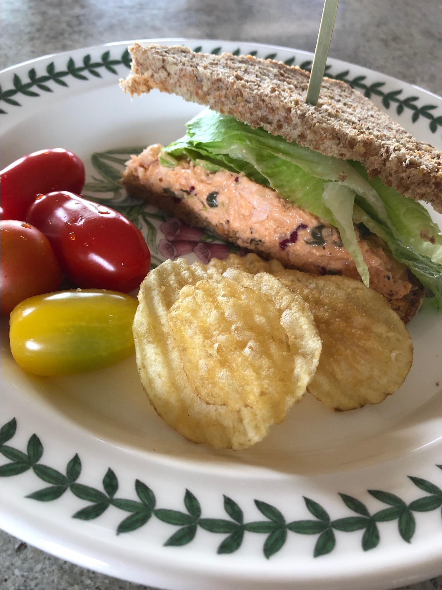 Spicy Salmon Salad Sandwiches Rina