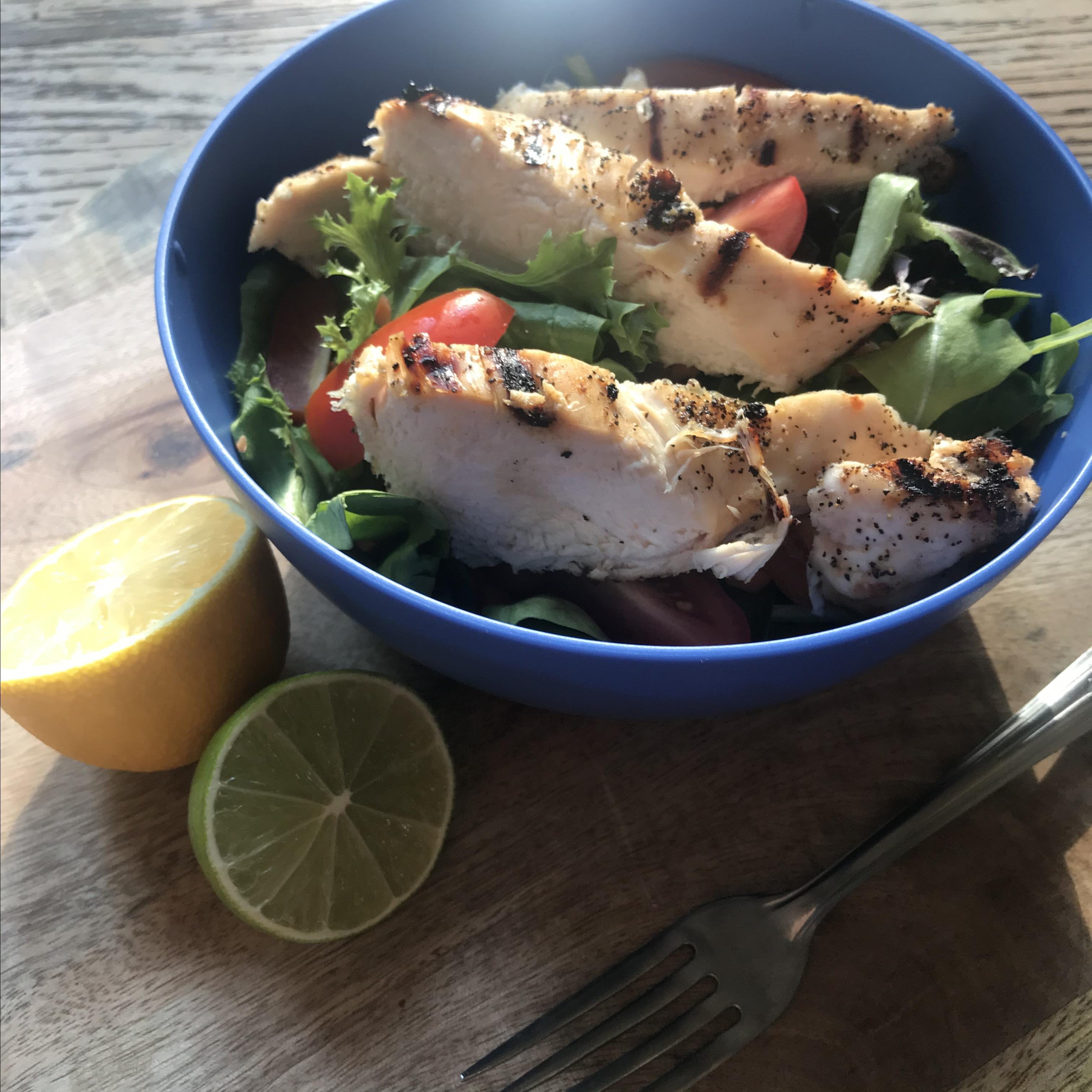 Grilled Lemon-Pepper Chicken Salad