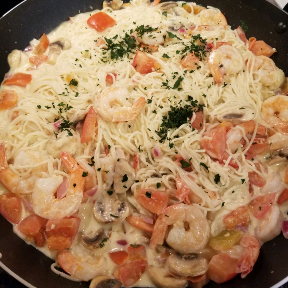 Champagne Shrimp and Pasta