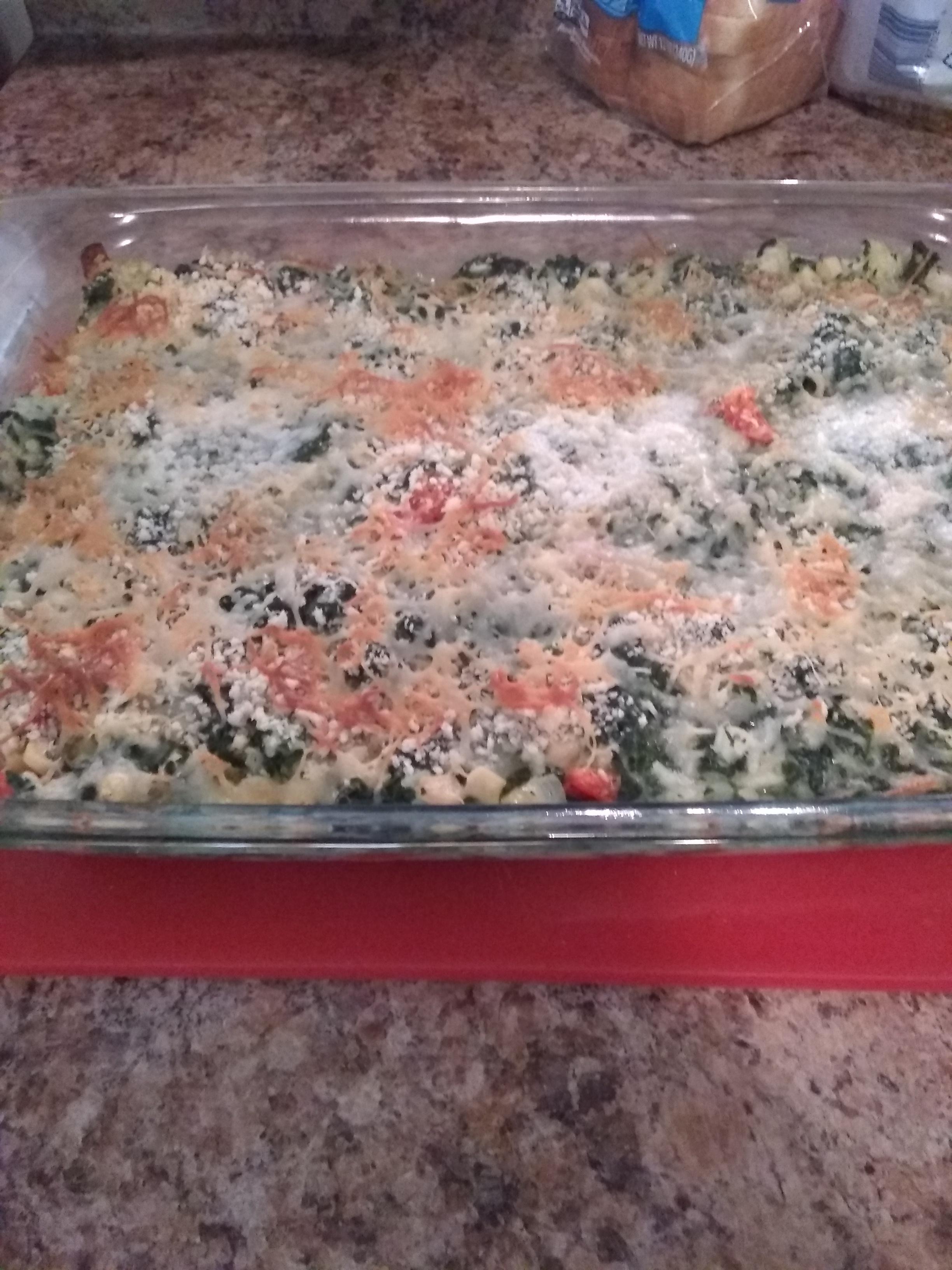 Spinach Veggie Casserole dayne drucker