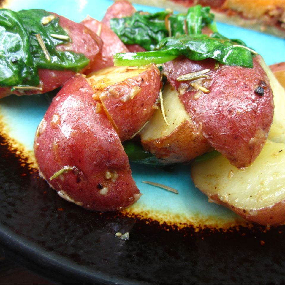 Roasted Potatoes with Greens pomplemousse