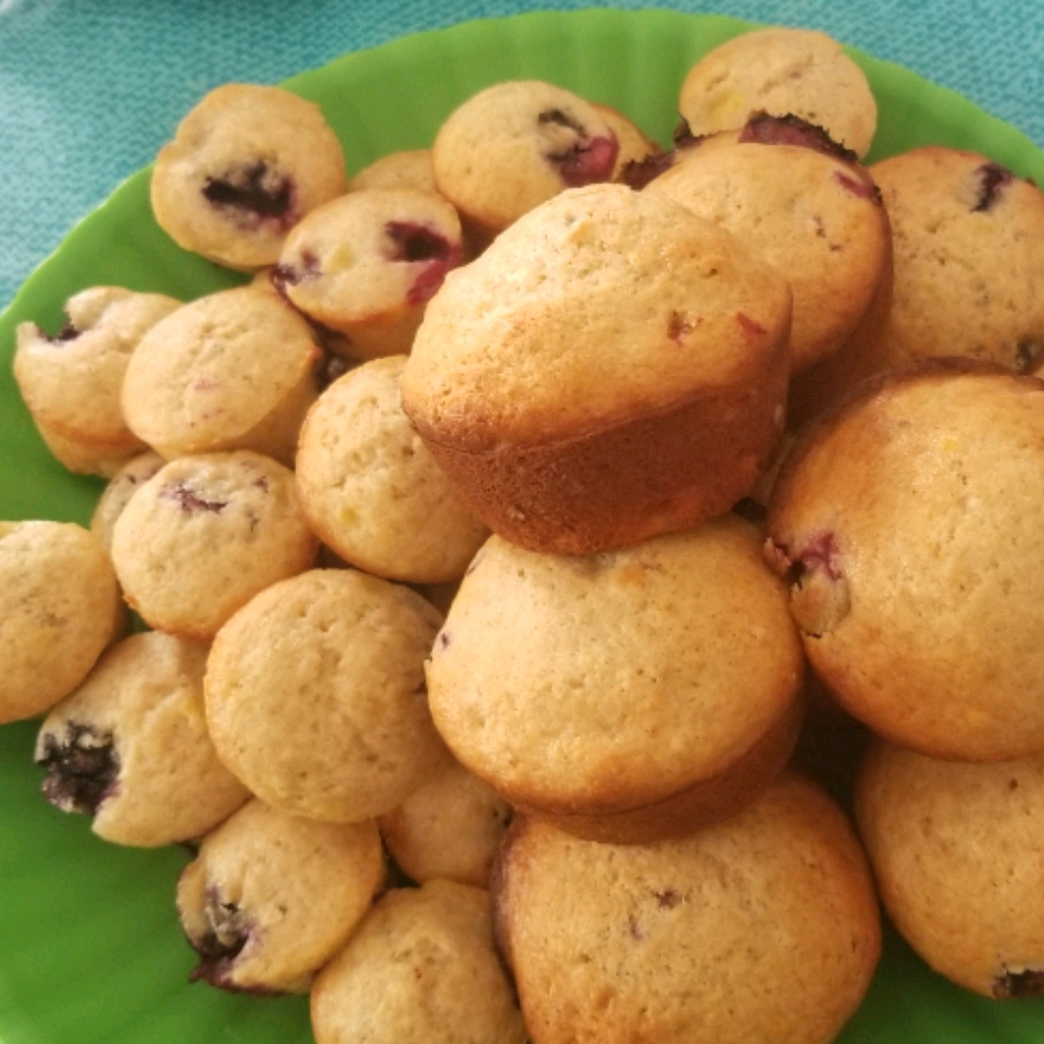 Banana Blueberry Muffins with Lavender Rebecca Goetz