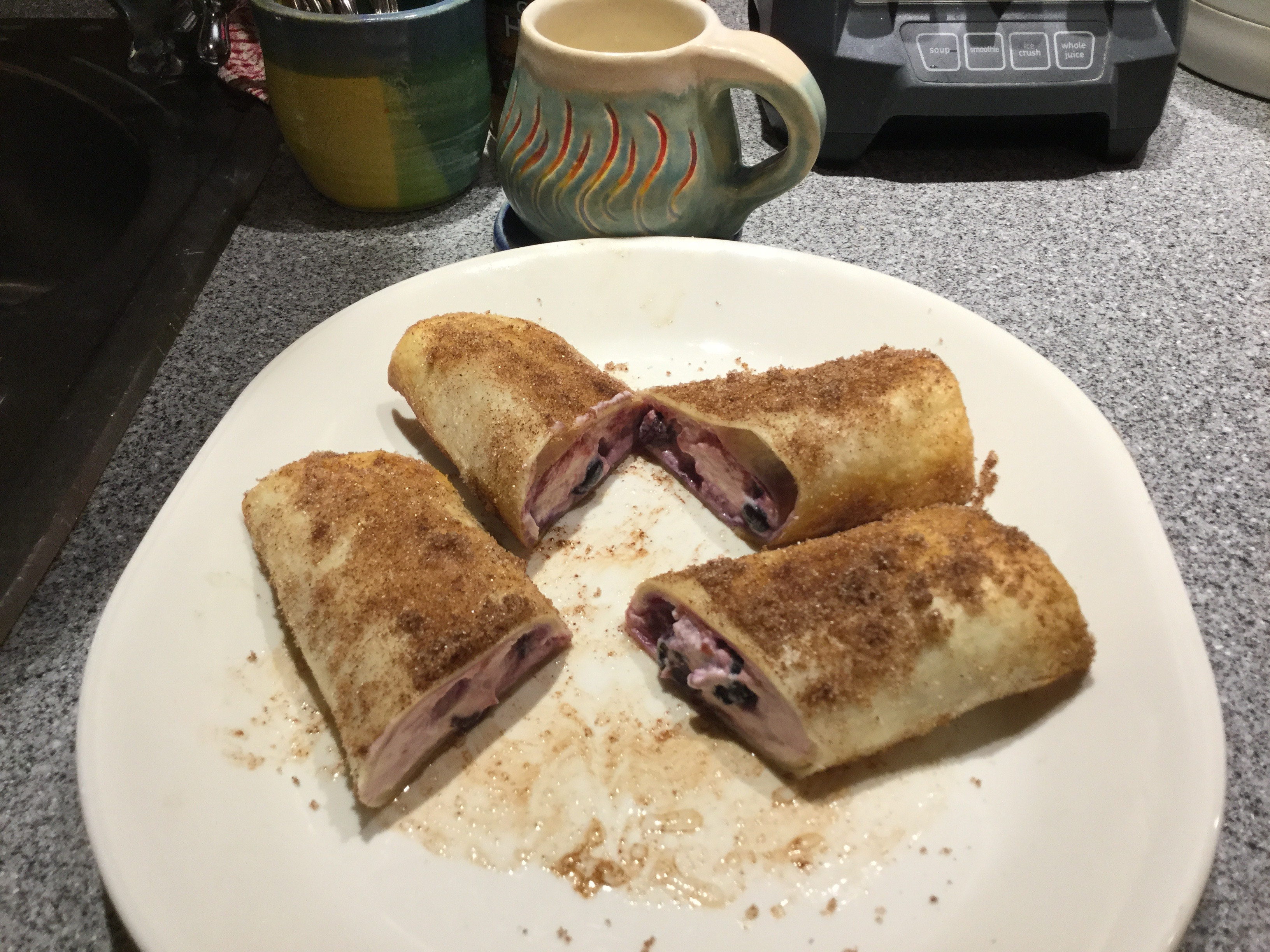 Air Fryer Blueberry Chimichangas