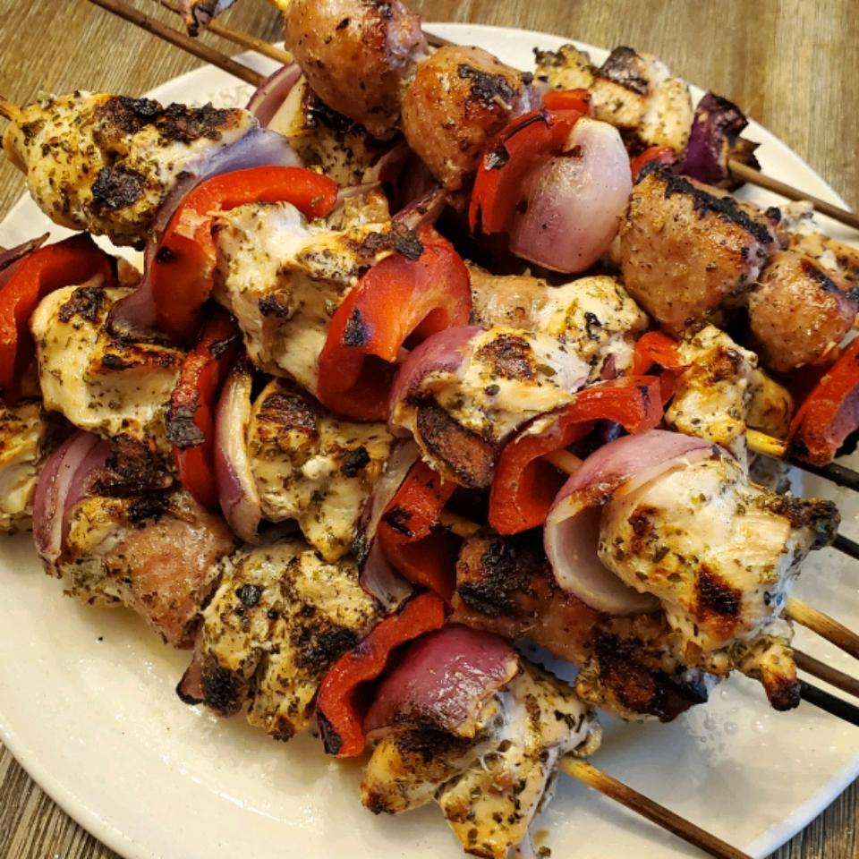 Chorizo and Chicken Skewers