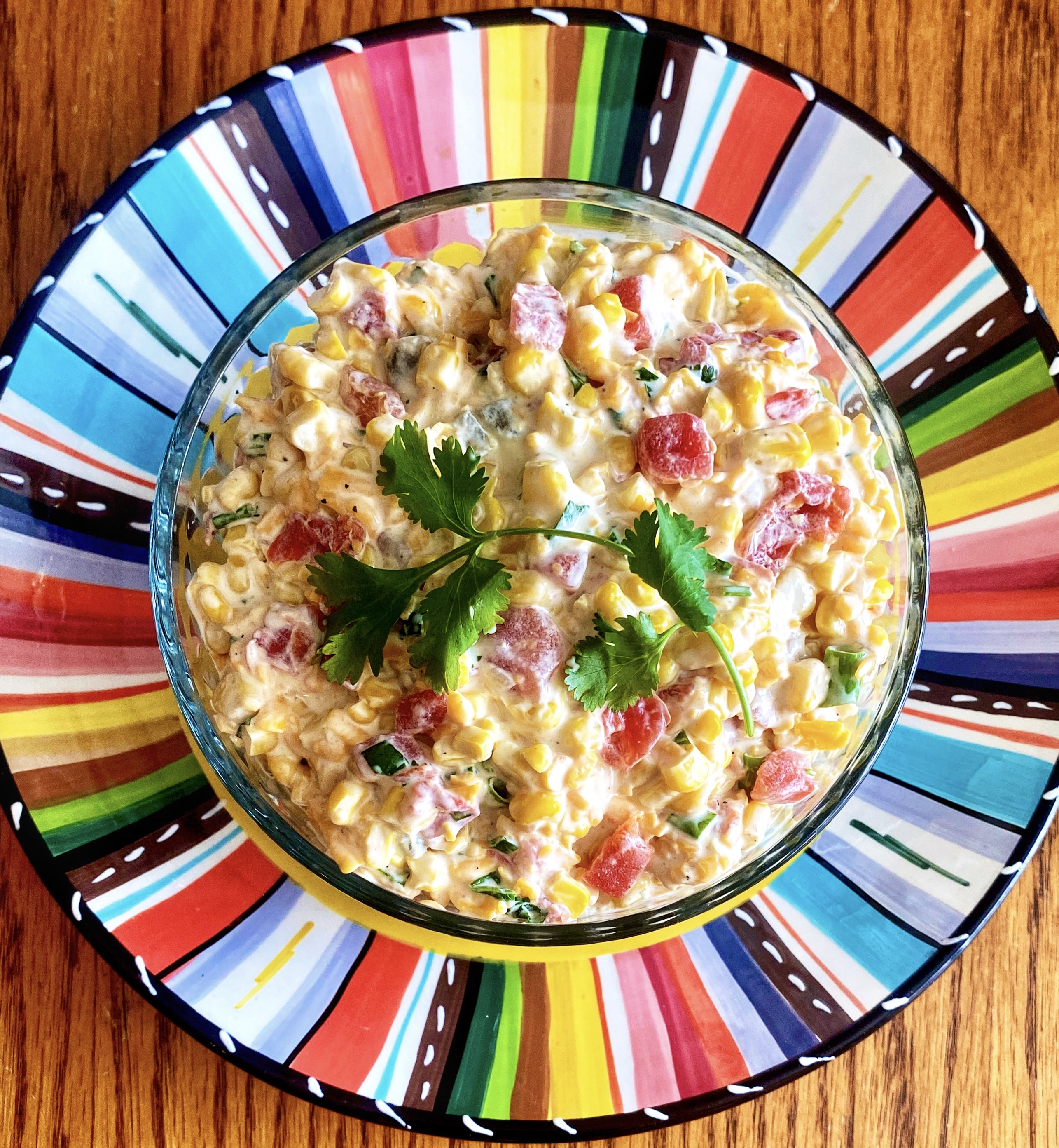 Spicy, Creamy Corn Salsa
