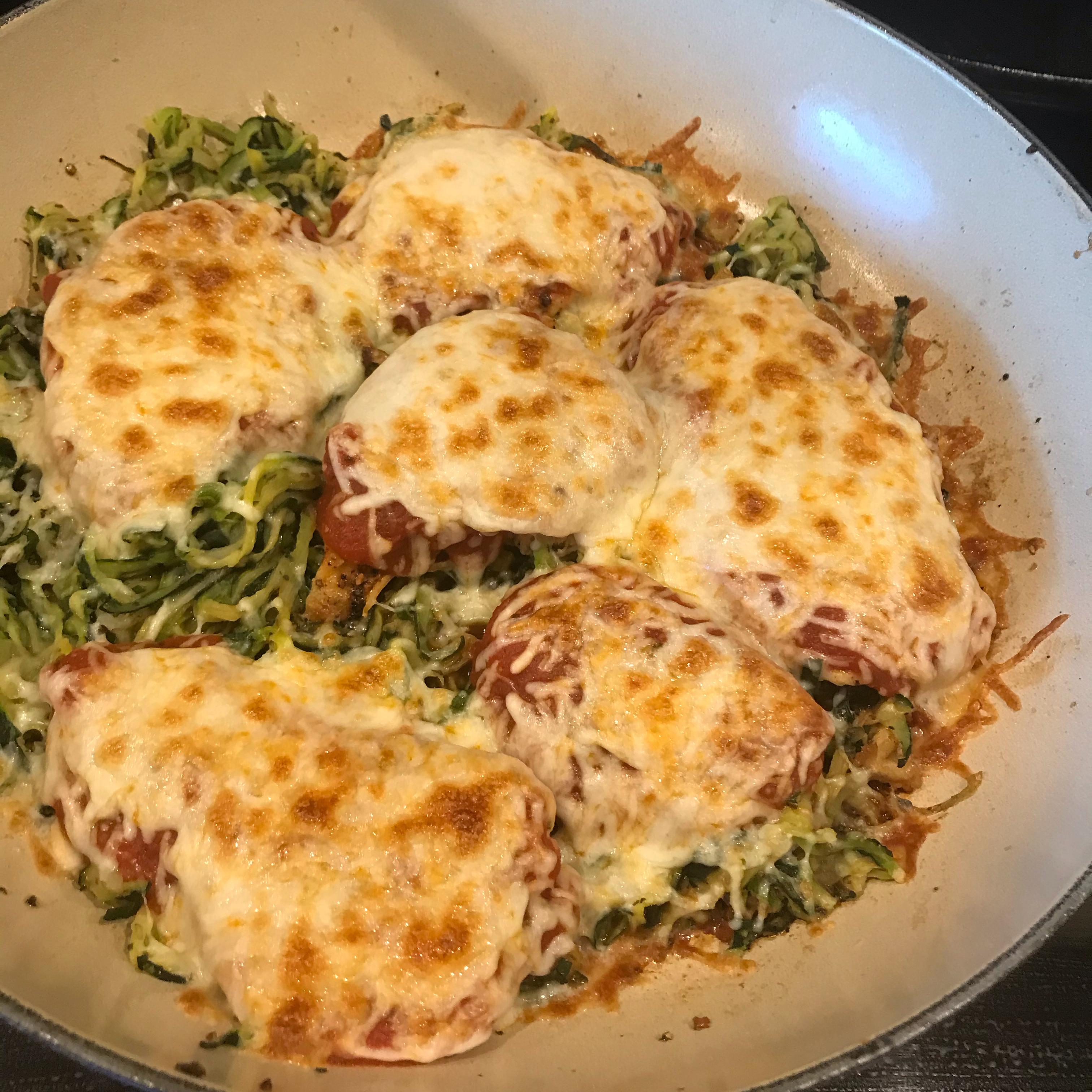 Chicken Parmesan with Zucchini Pasta Melissa Denis Gonsalves