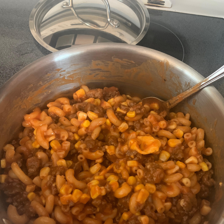 Hamburger and Macaroni Hot Dish Marthe