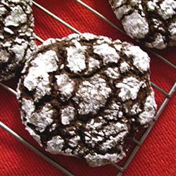 Easy Chocolate Crackled Cookies