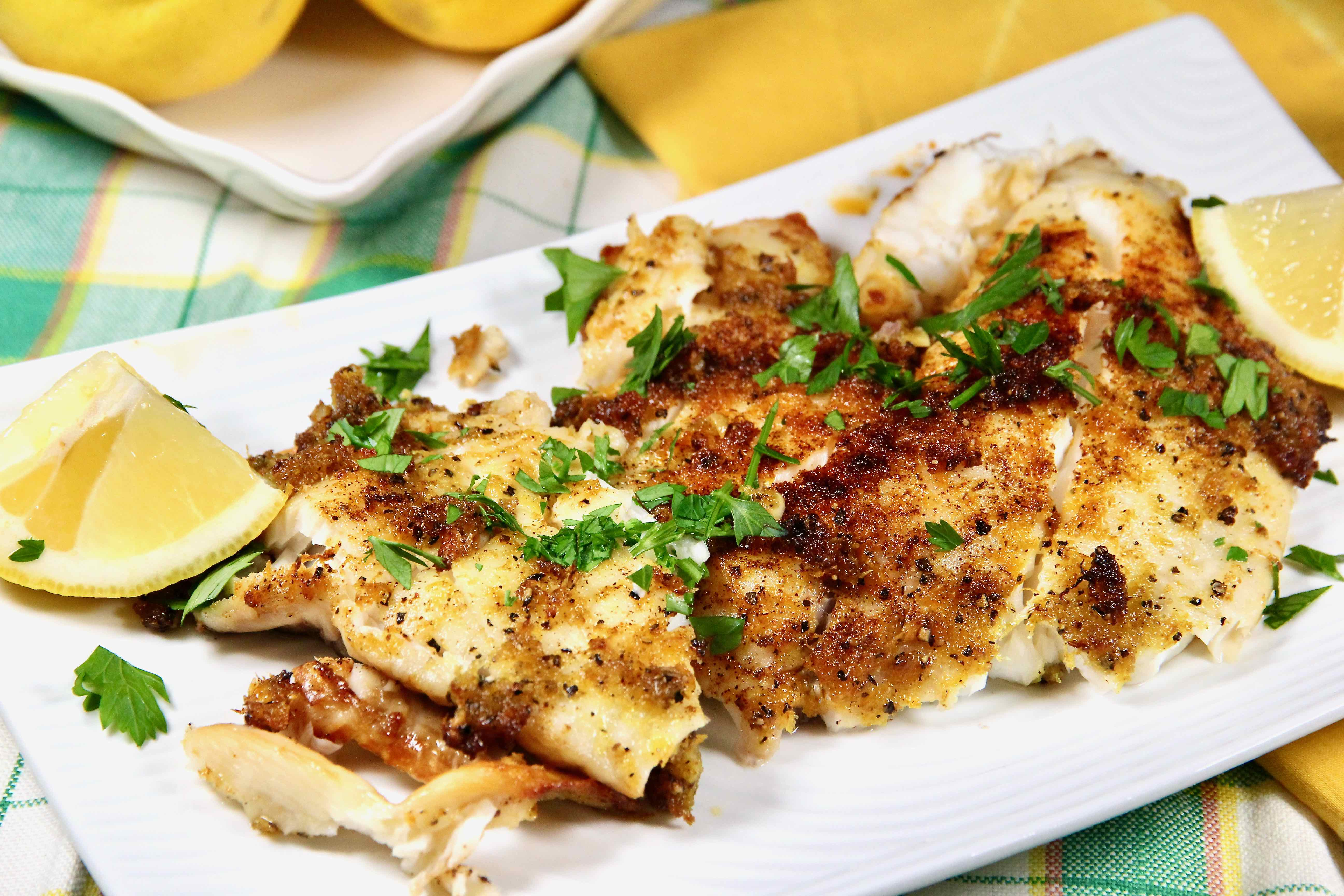 Air Fryer Tilapia with Fresh Lemon Pepper lutzflcat