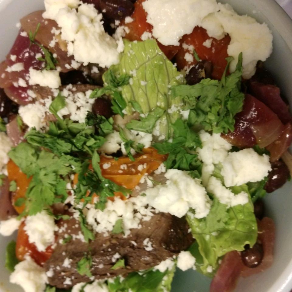 Mexican Steak and Veggie Salad freegreenjello