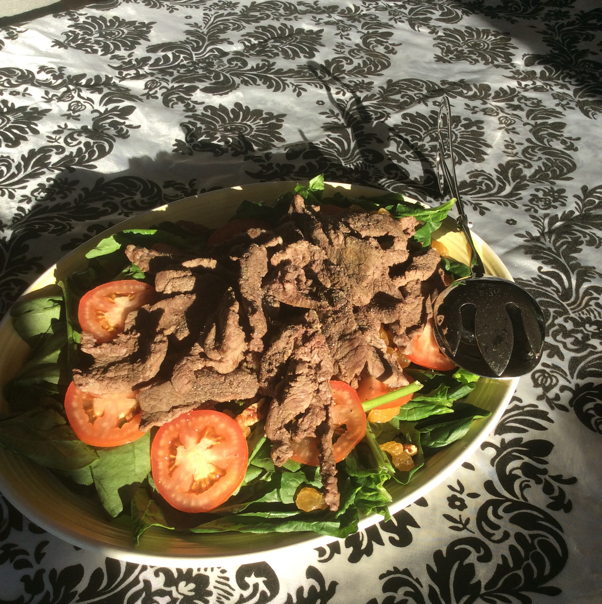 Steak and Spinach Salad healthylife1000
