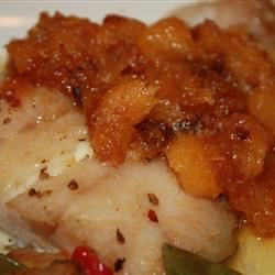 Grilled Grouper with Mango Butter thedailygourmet