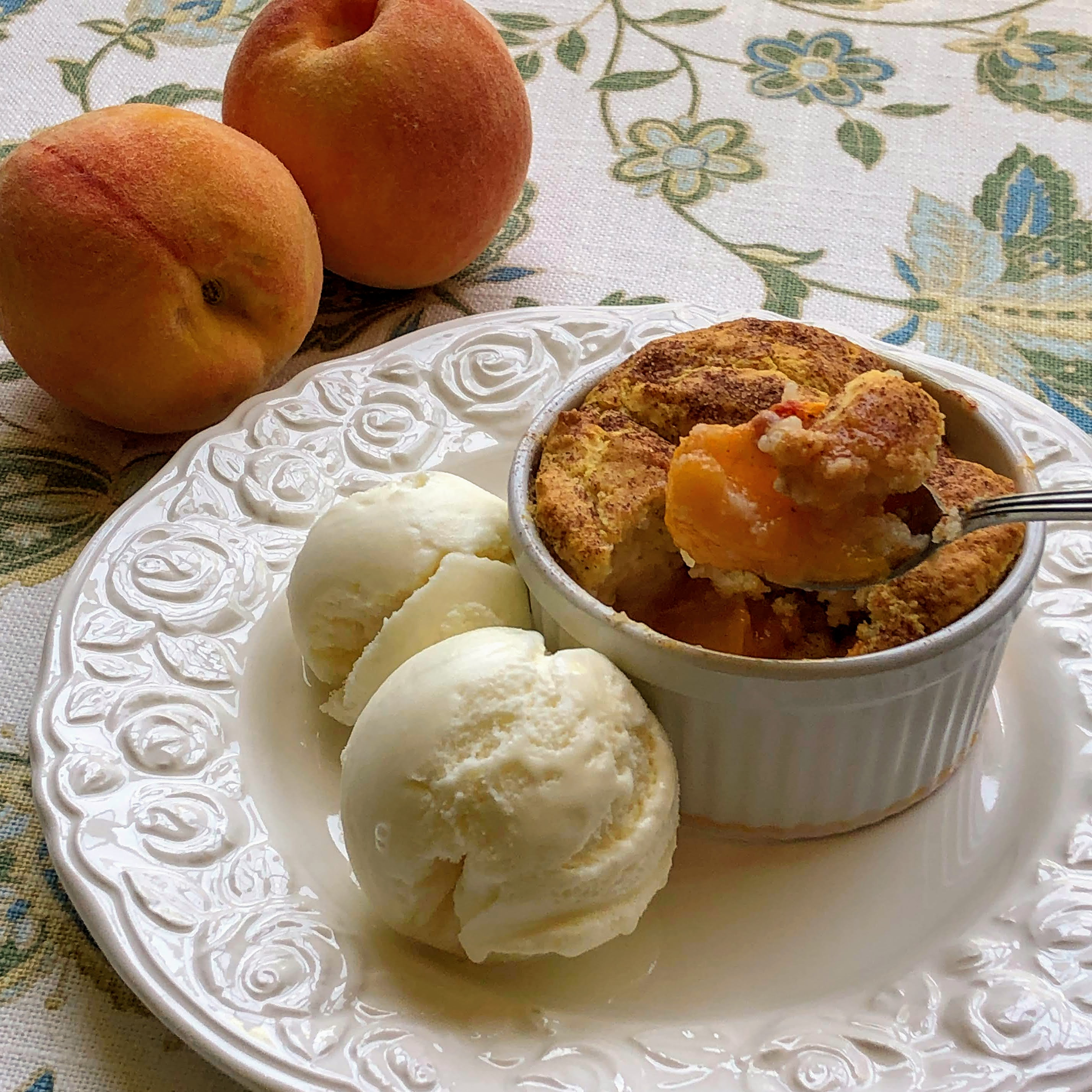 Old-Fashioned Peach Cobbler Kim's Cooking Now