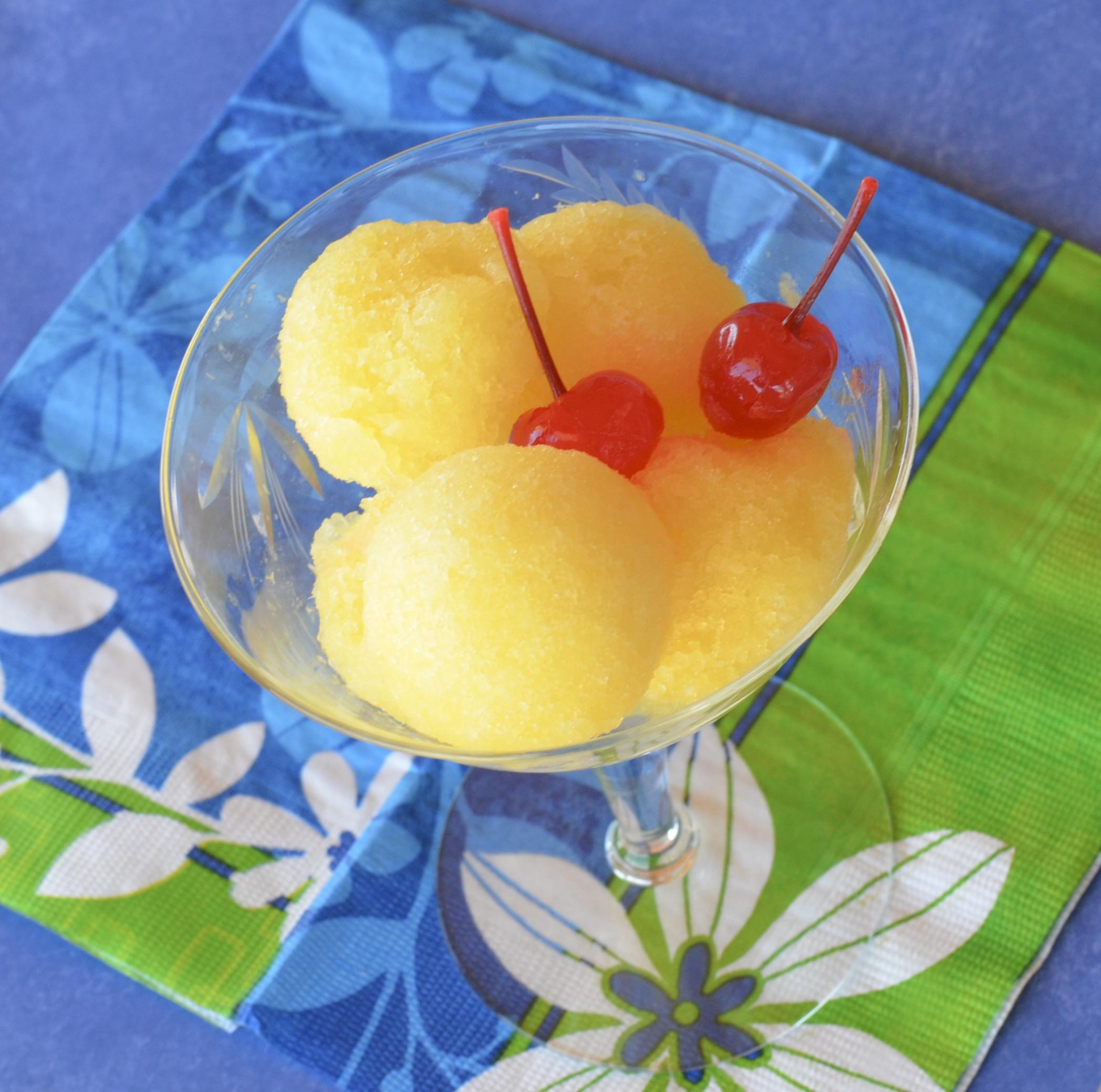 Easy Pineapple Sorbet