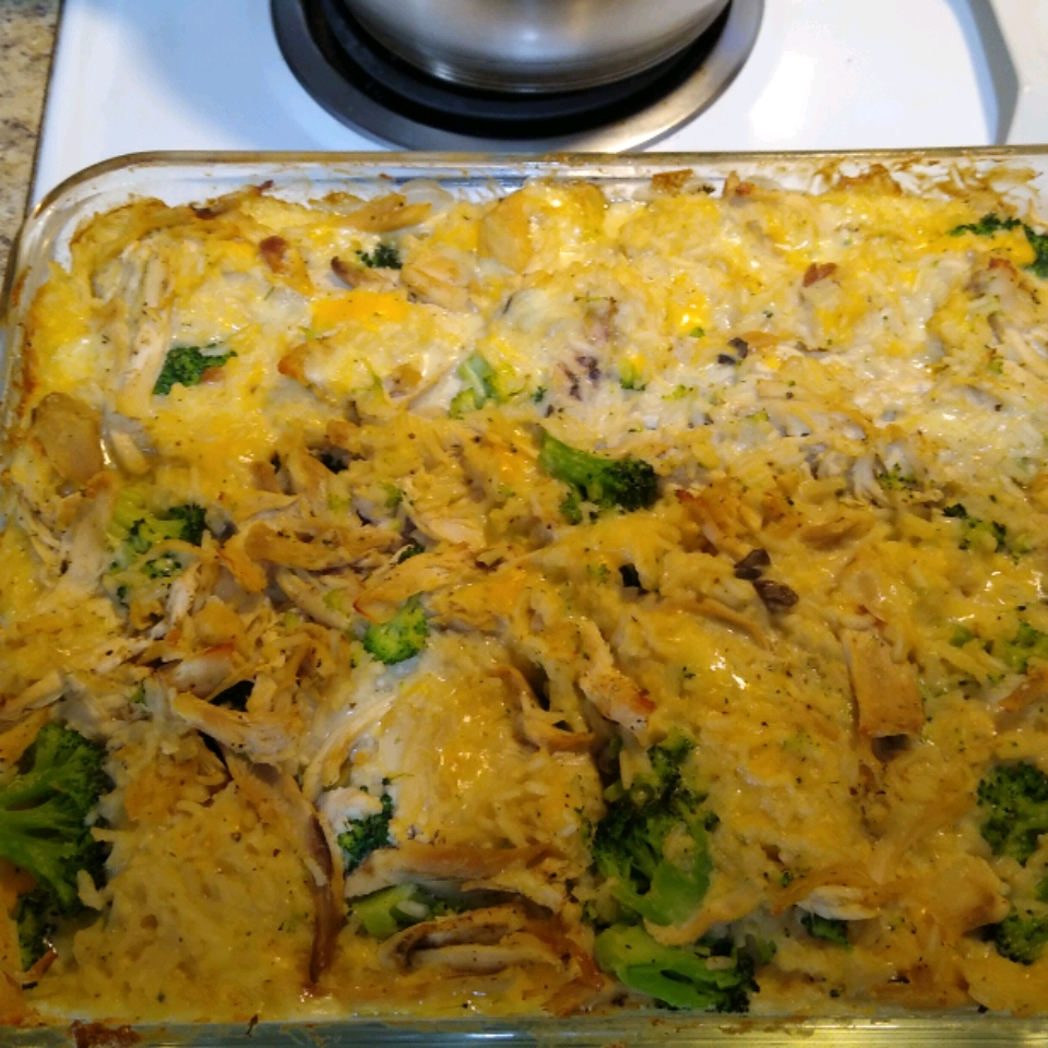 Broccoli, Rice, Cheese, and Chicken Casserole John Schmidt