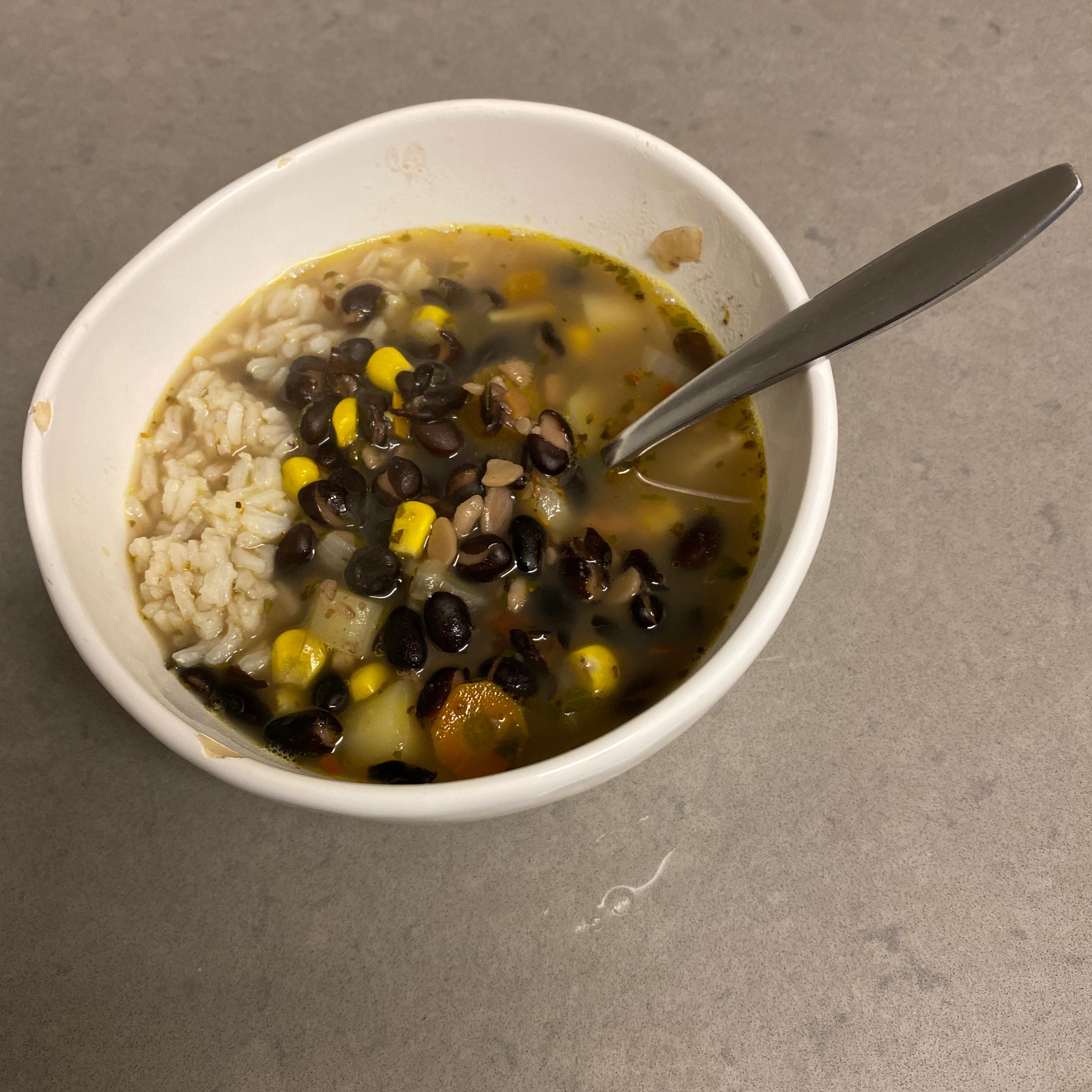Quick Spicy Black Bean Soup
