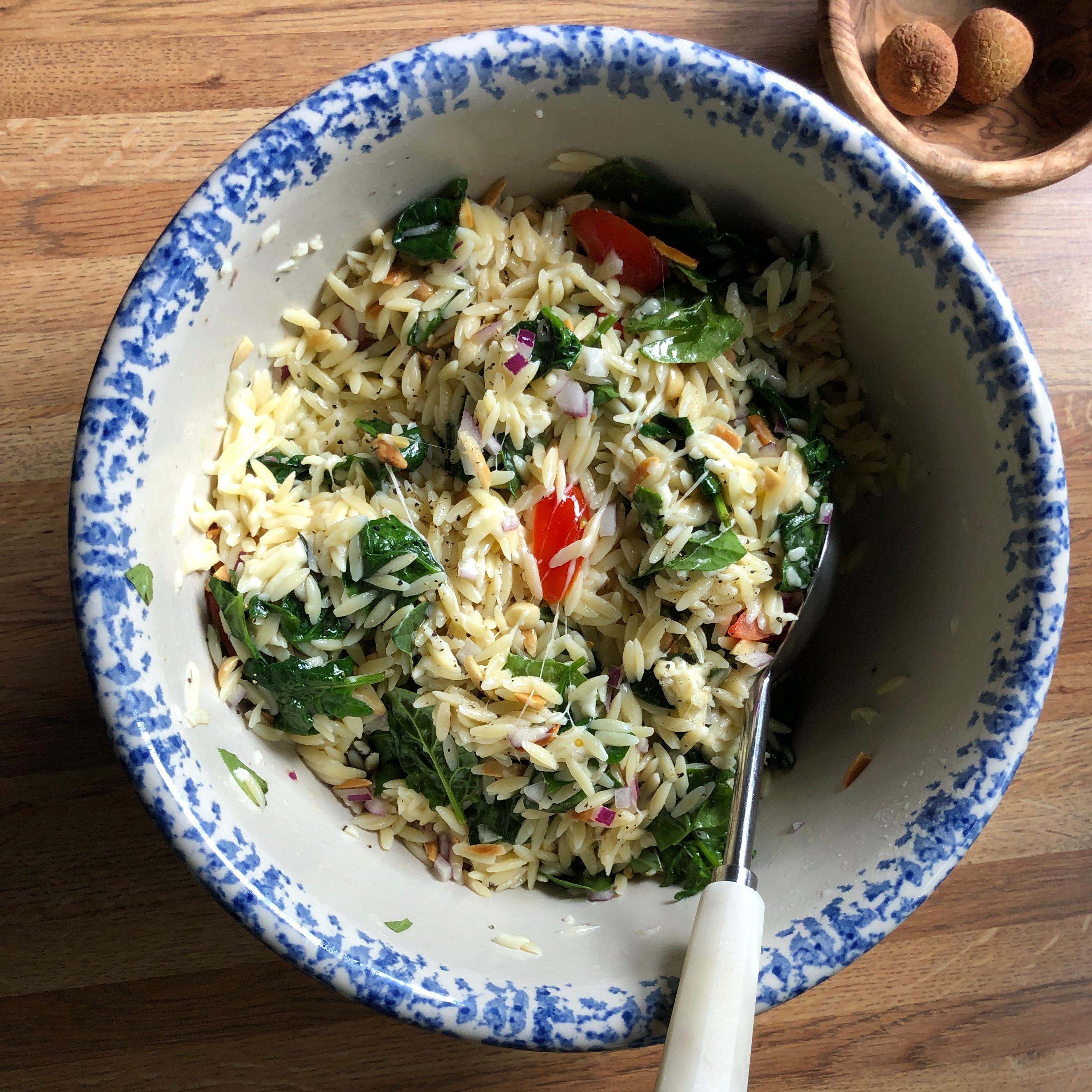 Spinach and Orzo Salad Lisa Crawford