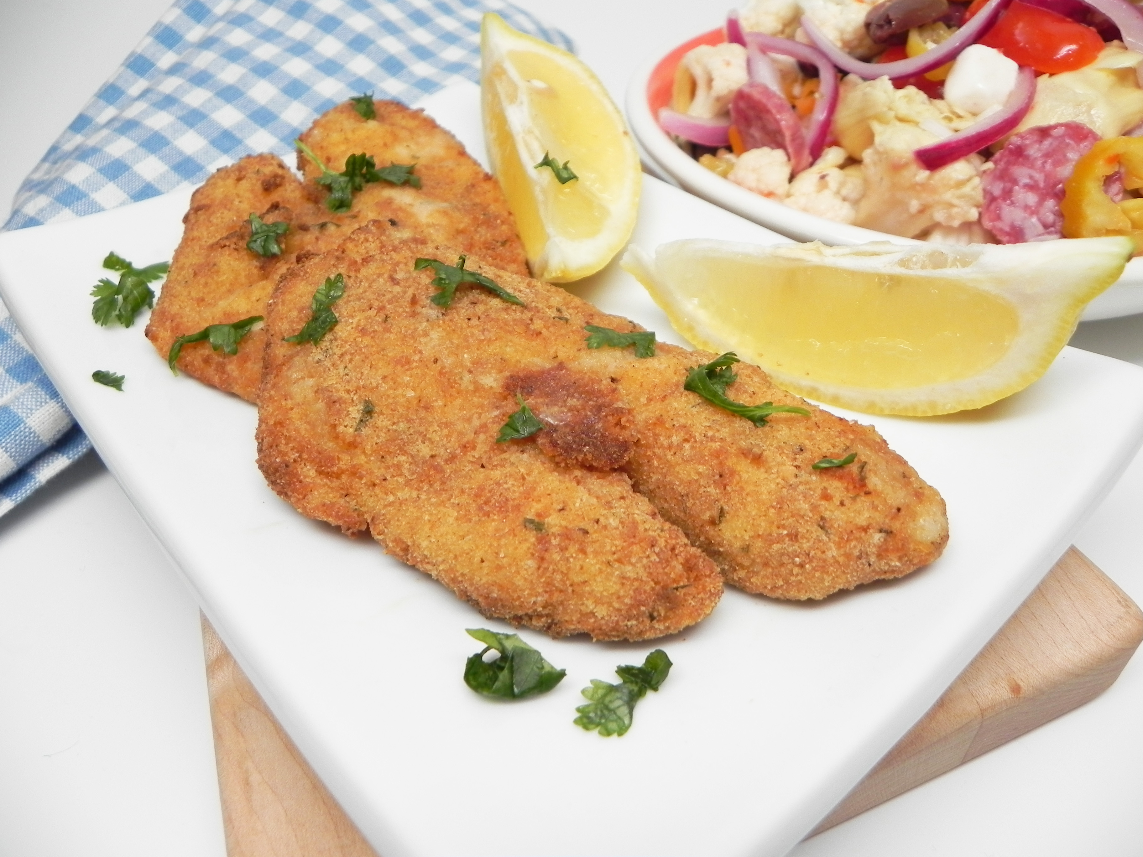 Air Fryer Tilapia Milanese for Two