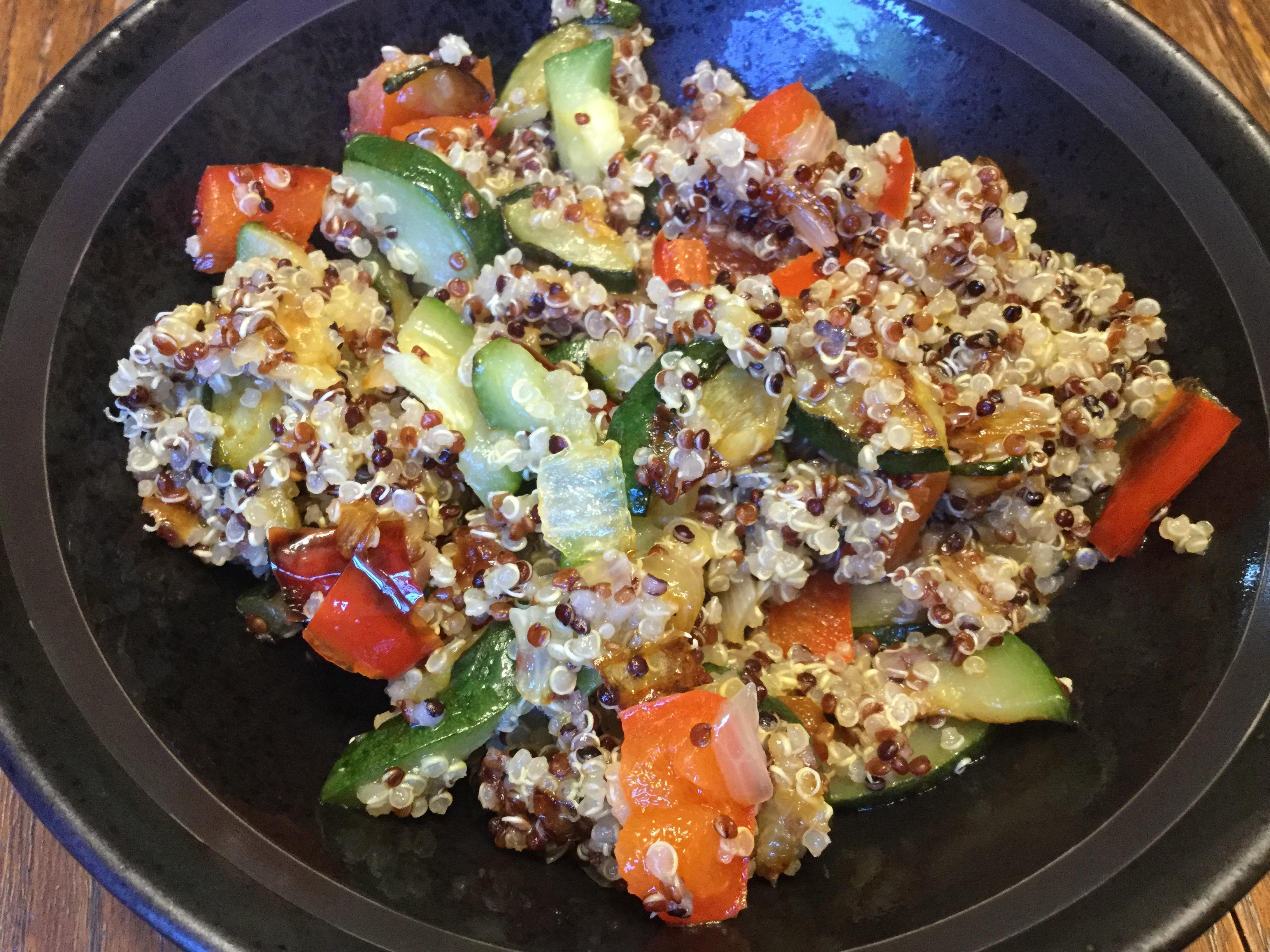 Lentil, Quinoa, and Mung Bean Salad manella